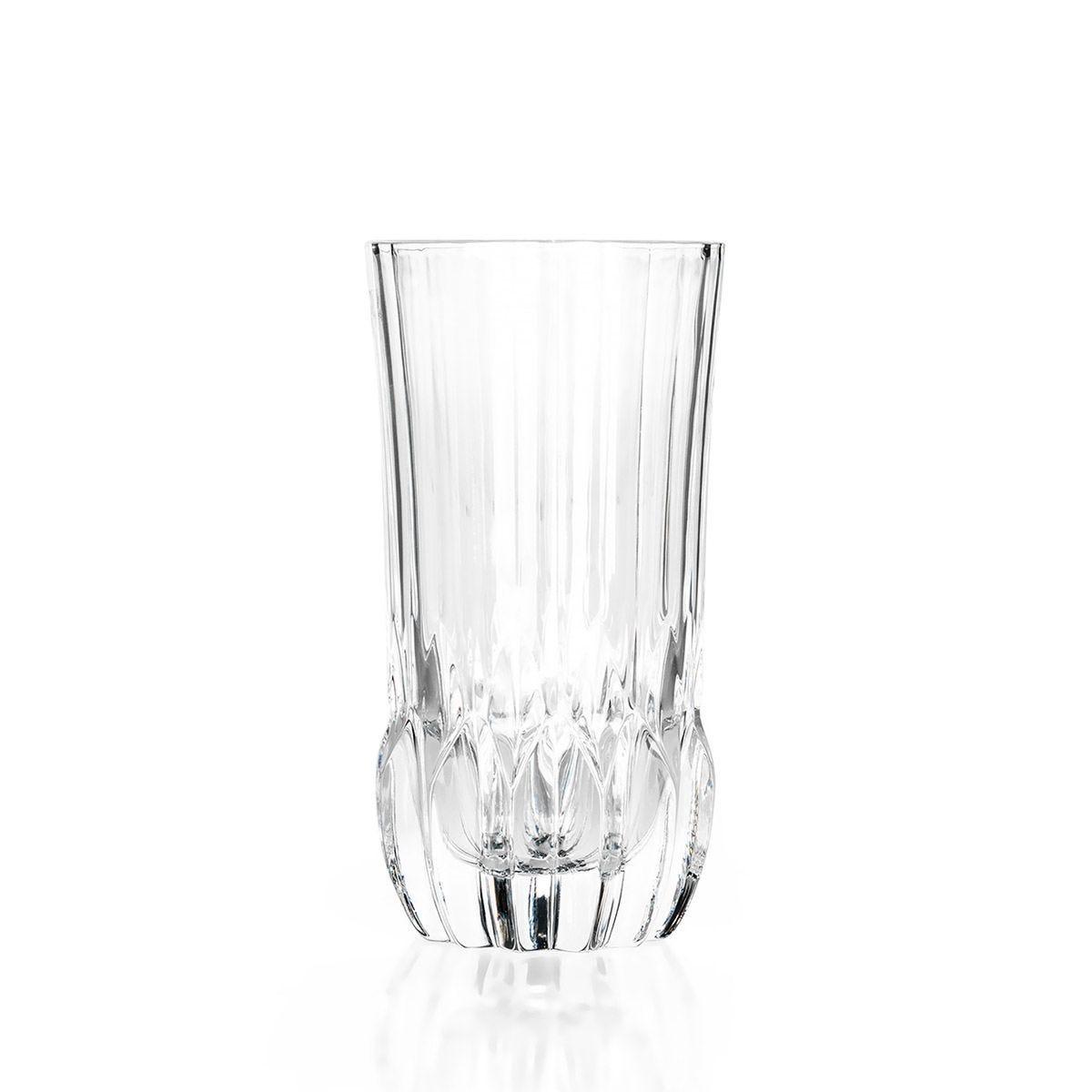 RCR Adagio Crystal Hi-Ball Tumblers Glasses Set of 6