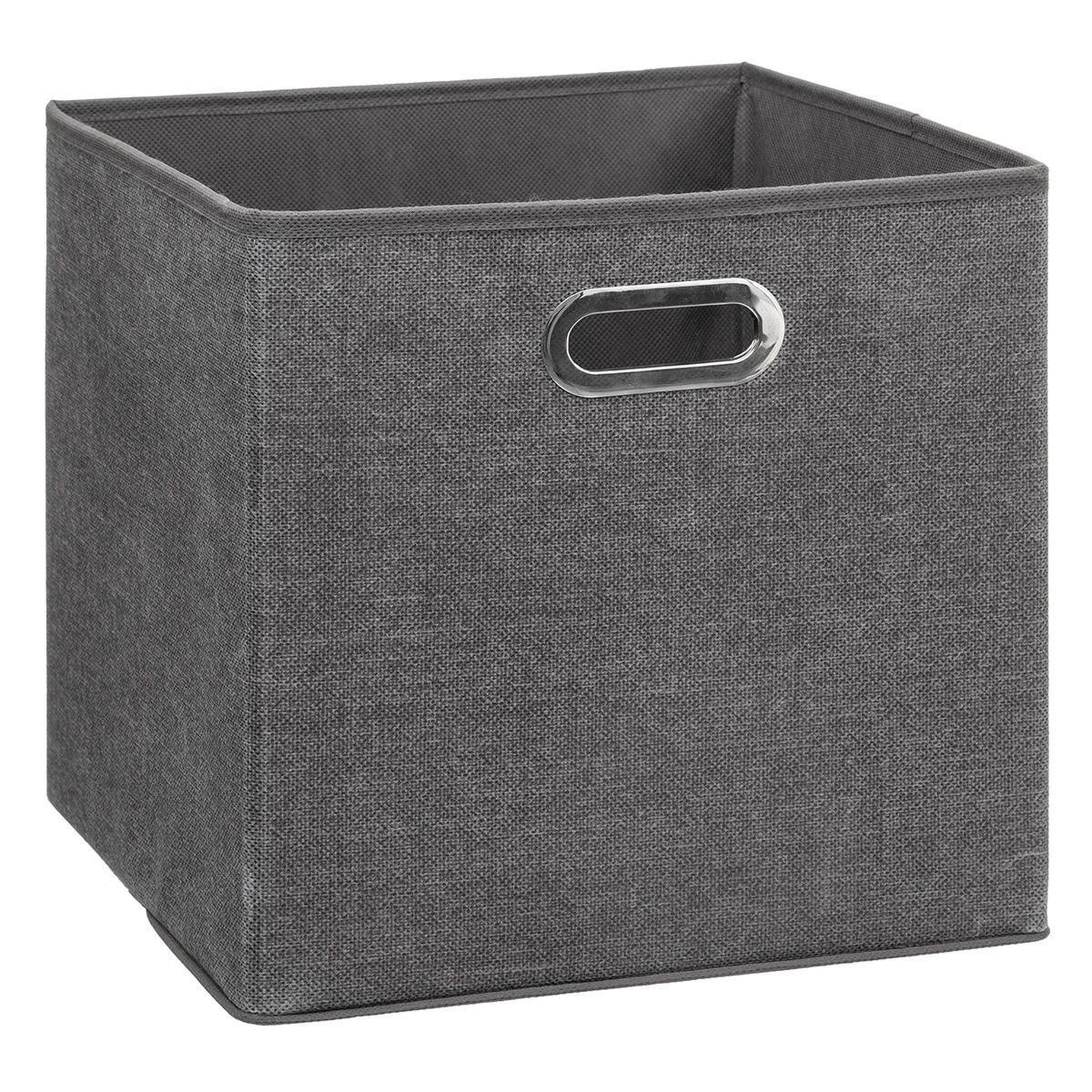 5Five Pair Fabric Basket 31 x 31cm - Dark Grey