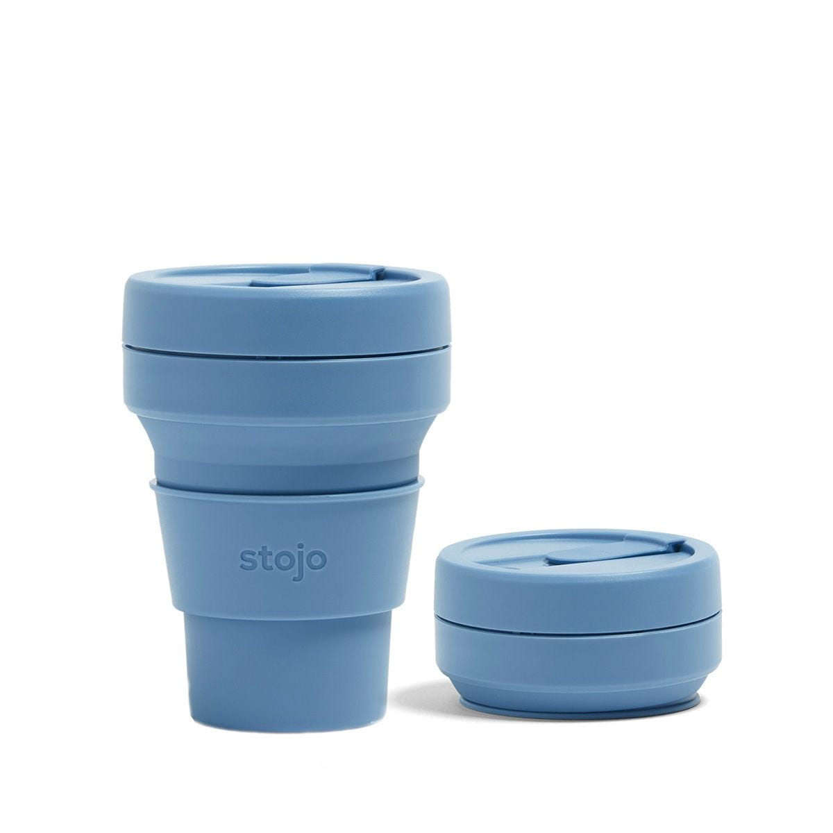 Stojo Collapsible Pocket Cup 12oz - Steel Blue