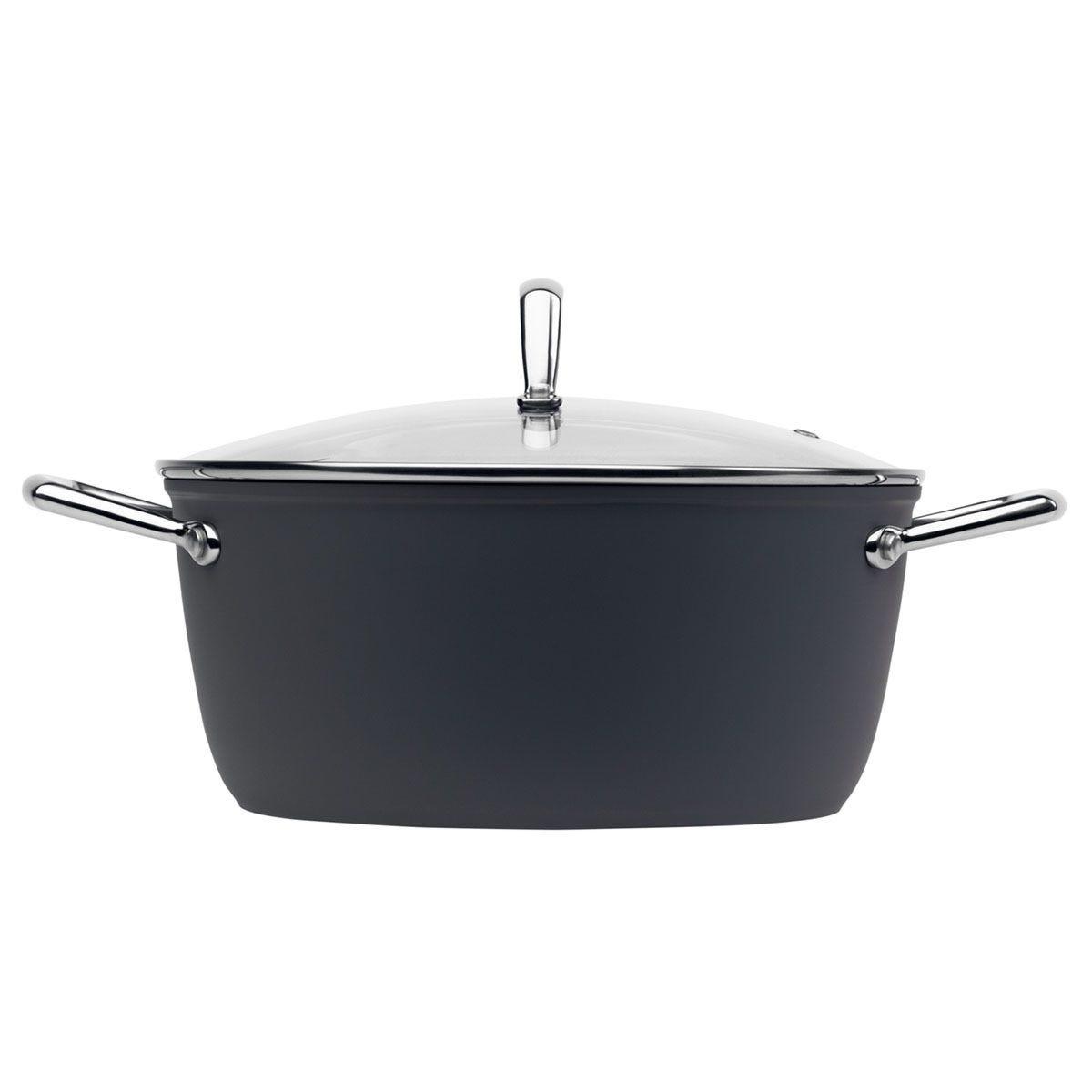 Haden Perth Sleek 24cm Casserole Pot - Grey