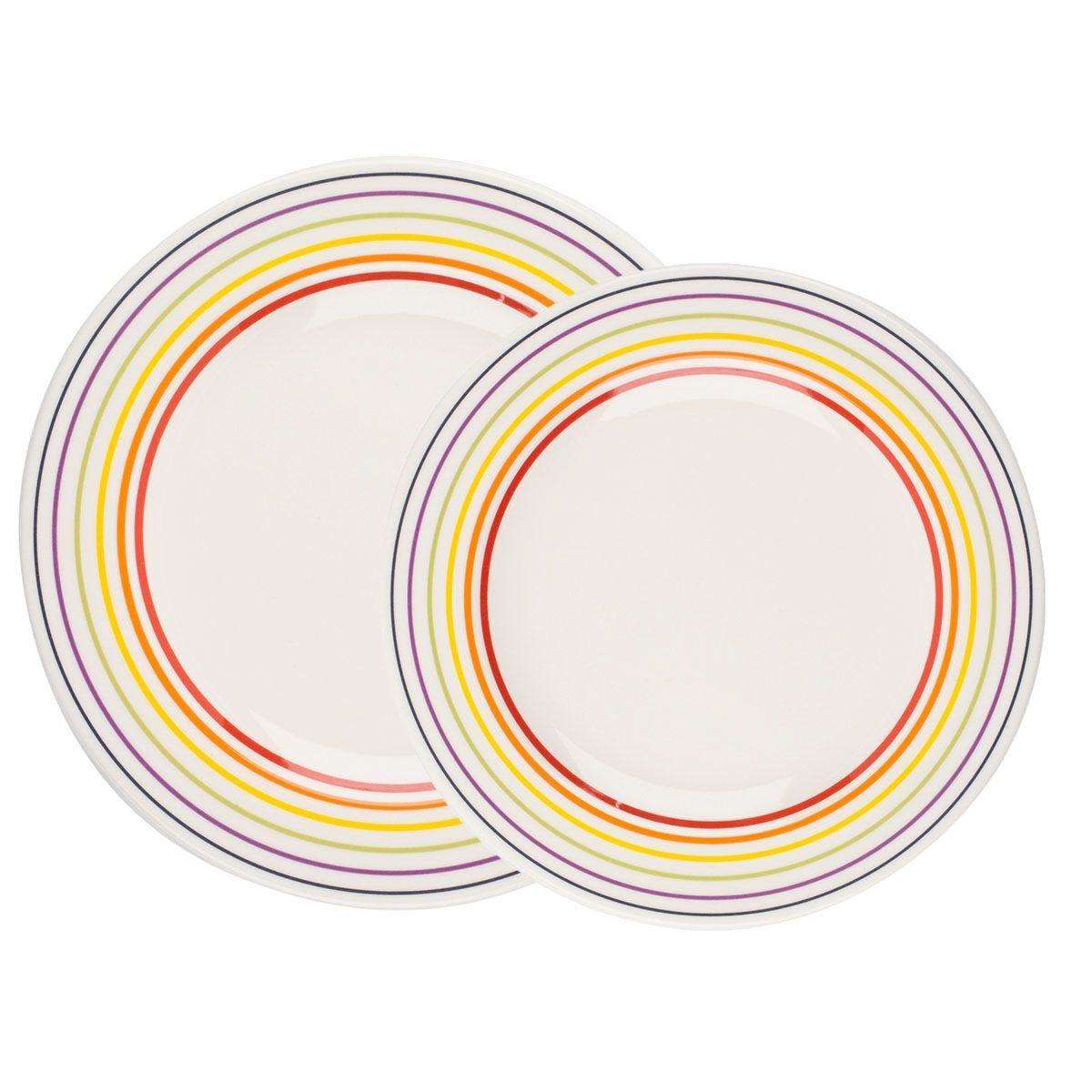 Bugatti Striped Dinner Plate Set - 16 Piece