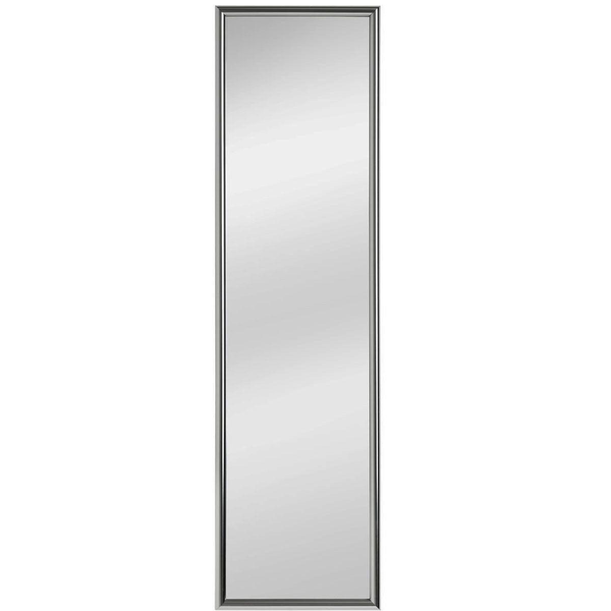 Premier Housewares Plastic Frame Over Door Mirror - Silver