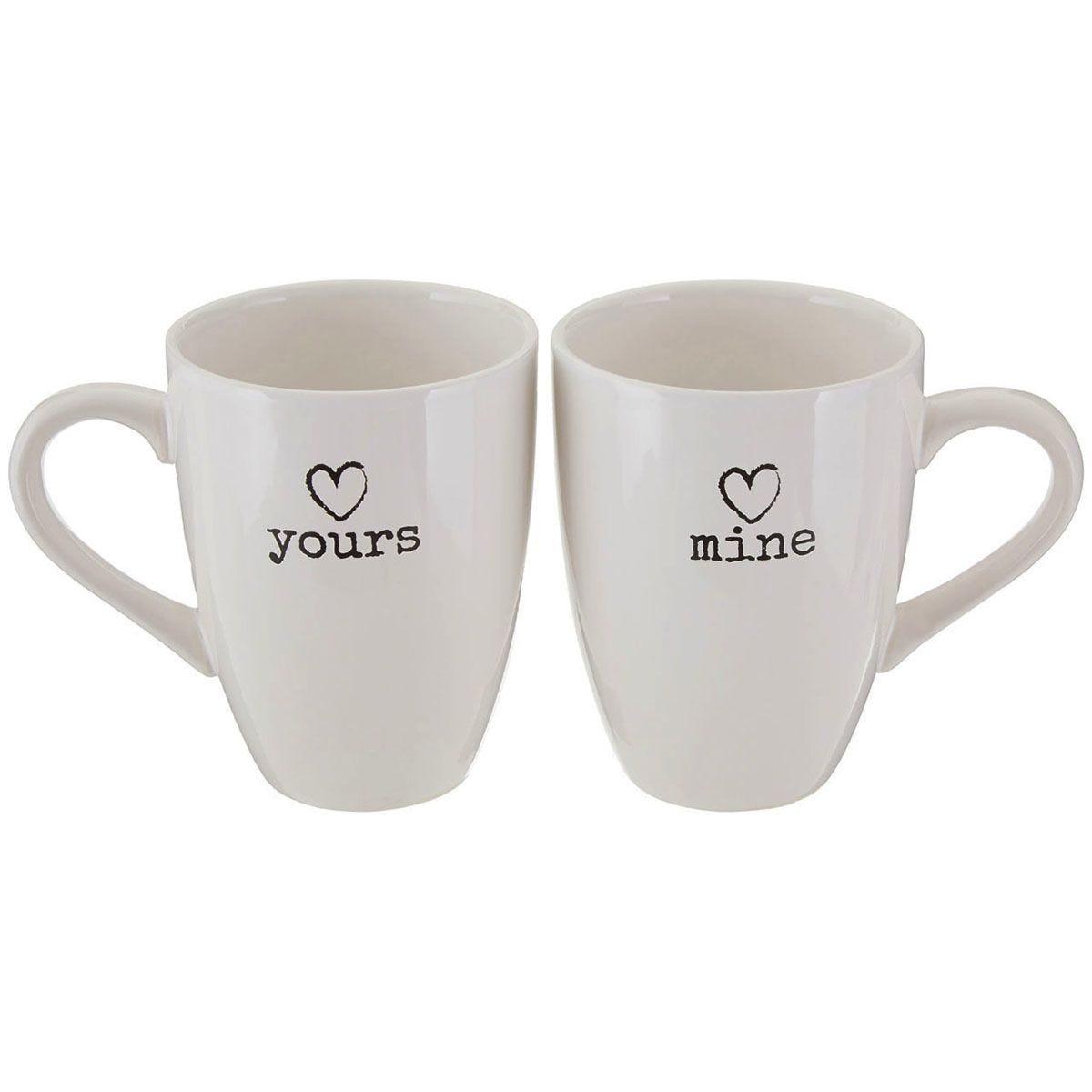Premier Housewares Charm Mugs - Set of 2