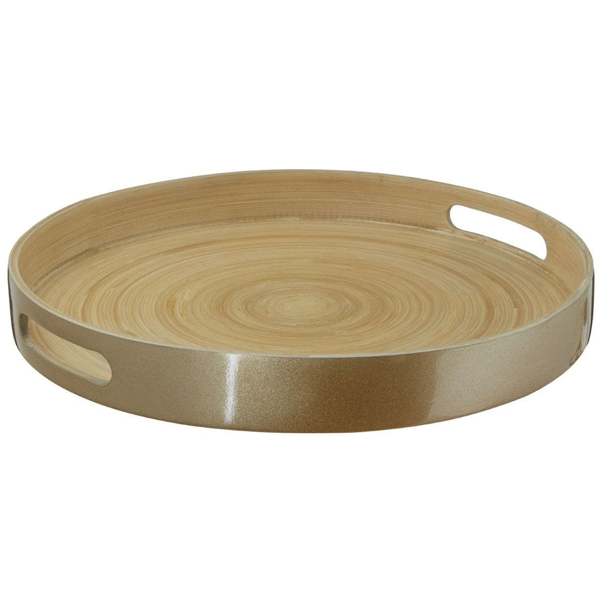 Premier Housewares Kyoto Large Tray - Gold