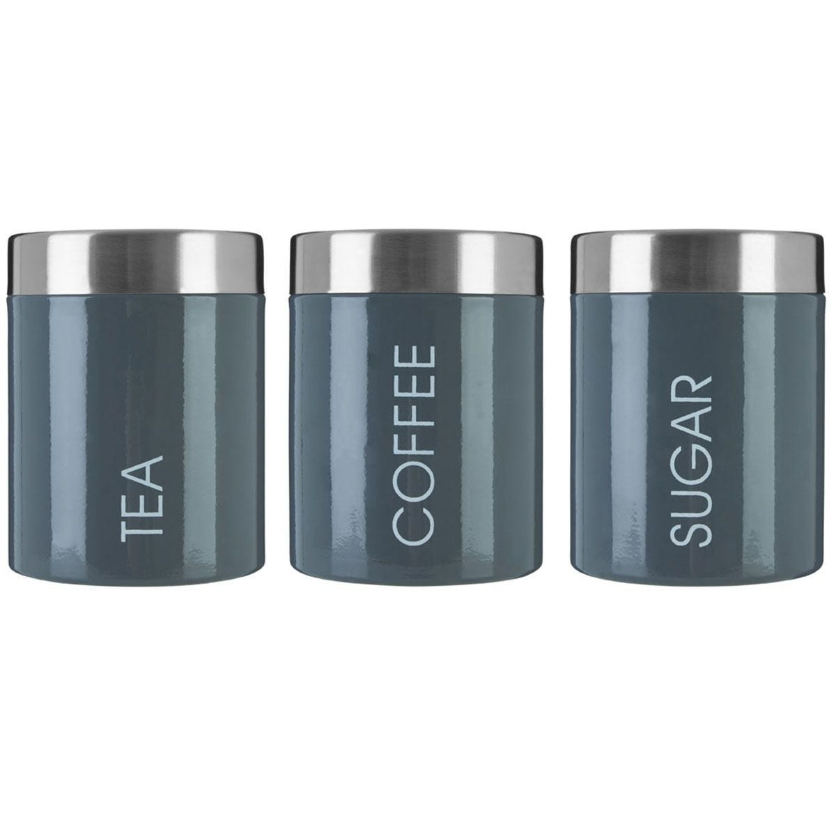 Premier Housewares Grey Liberty Canisters - Set of 3