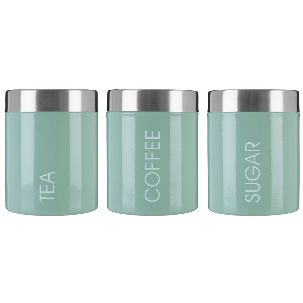Premier Housewares Green Liberty Canisters - Set of 3