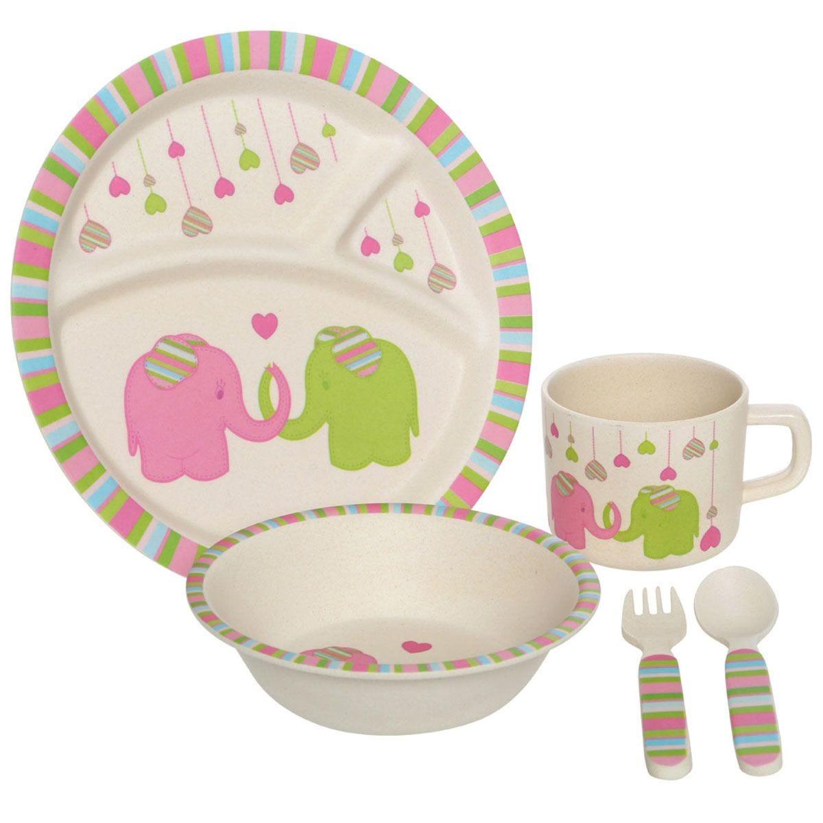 Premier Housewares 5-Piece Eden Elephant Kids Dinner Set