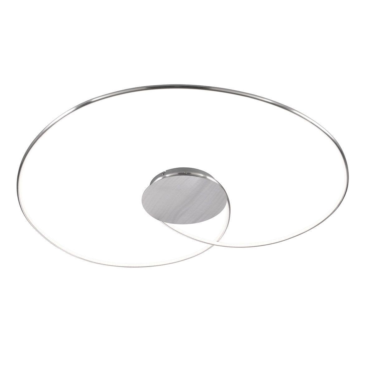 Wofi Opus Brushed Aluminium  Ceiling Lamp - 1x LED (32W 3200 Lumen)