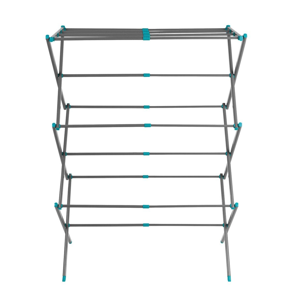 Beldray 3-Tier Expandable Clothes Airer 7 Metres - Turquoise/Grey