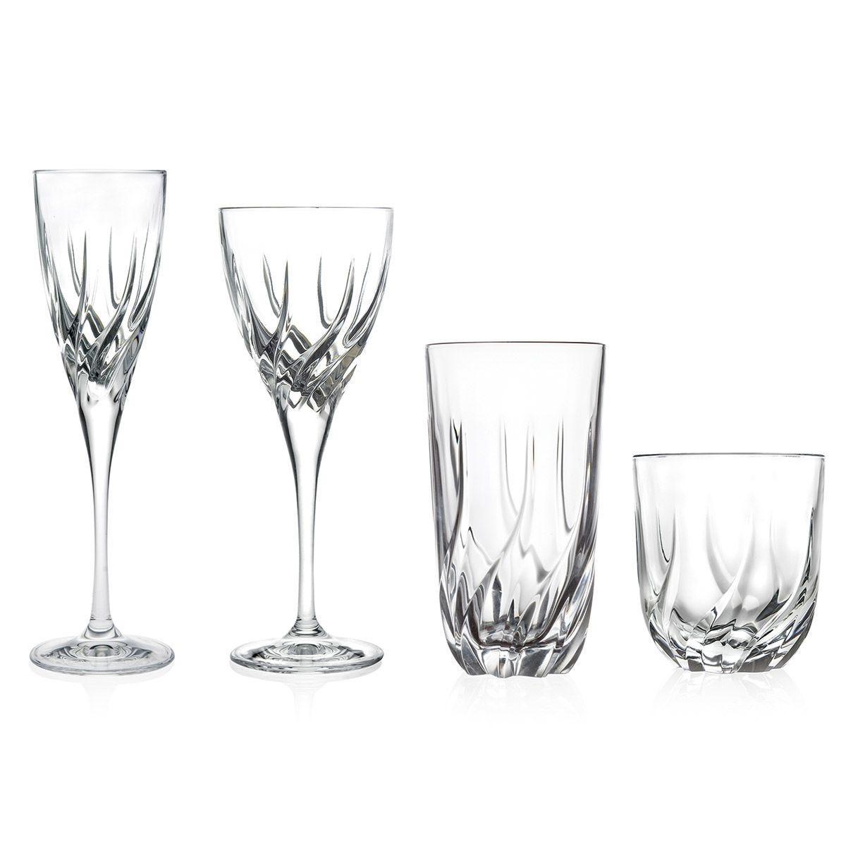 RCR Trix Luxion Crystal 24-Piece Glassware Set