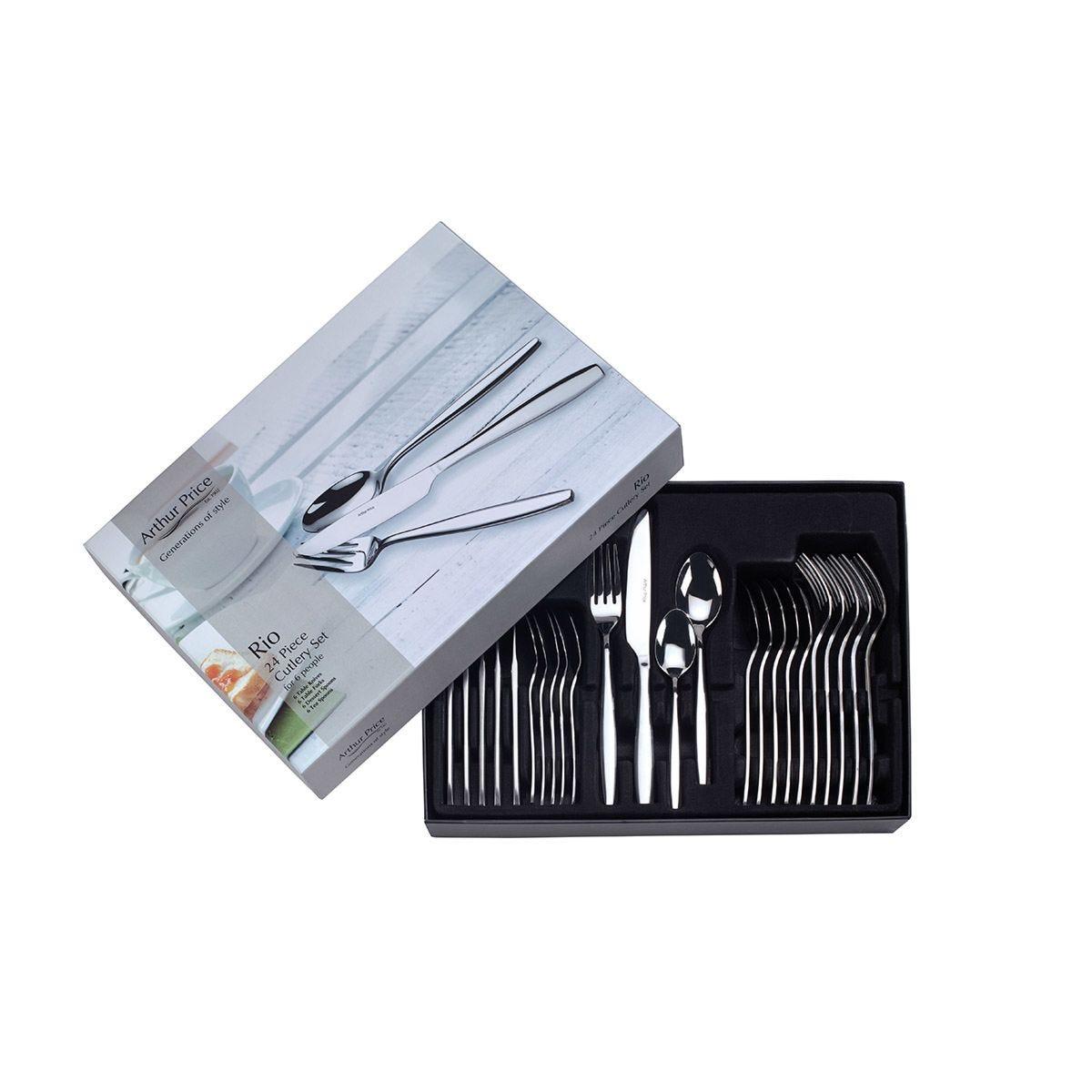 Arthur Price Rio 24-Piece Cutlery Set - Stainless Steel