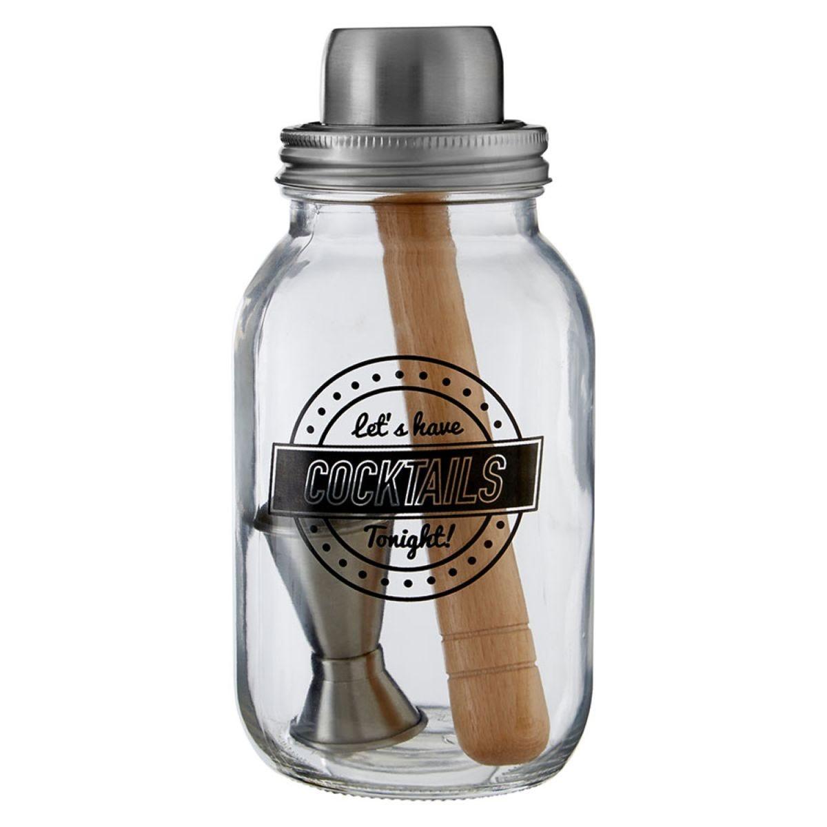 Premier Housewares Let's Have Cocktails Jar - 3 Piece