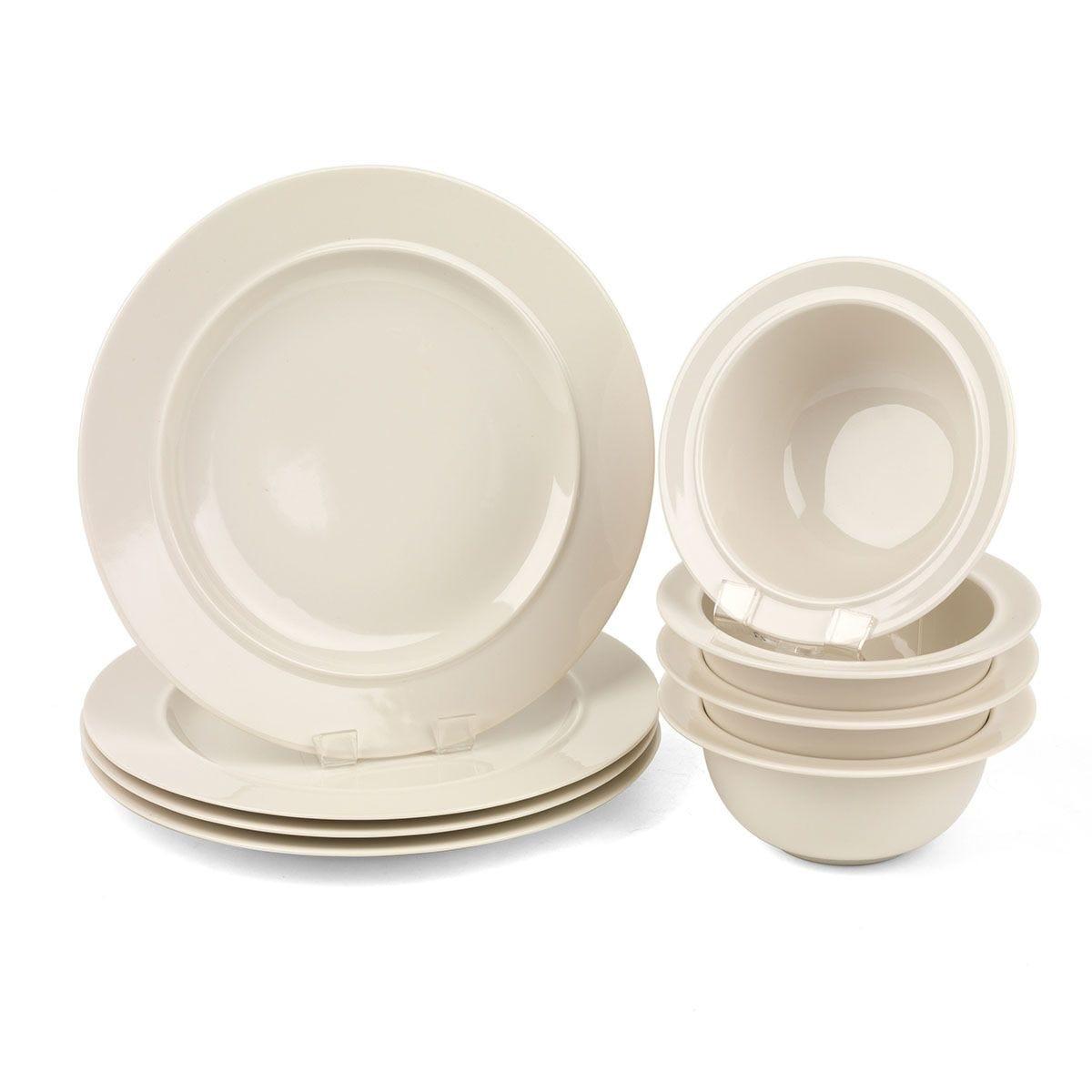 Alessi La Bella Travola Porcelain Dinner Plate And Bowl Set 8 Piece Robert Dyas