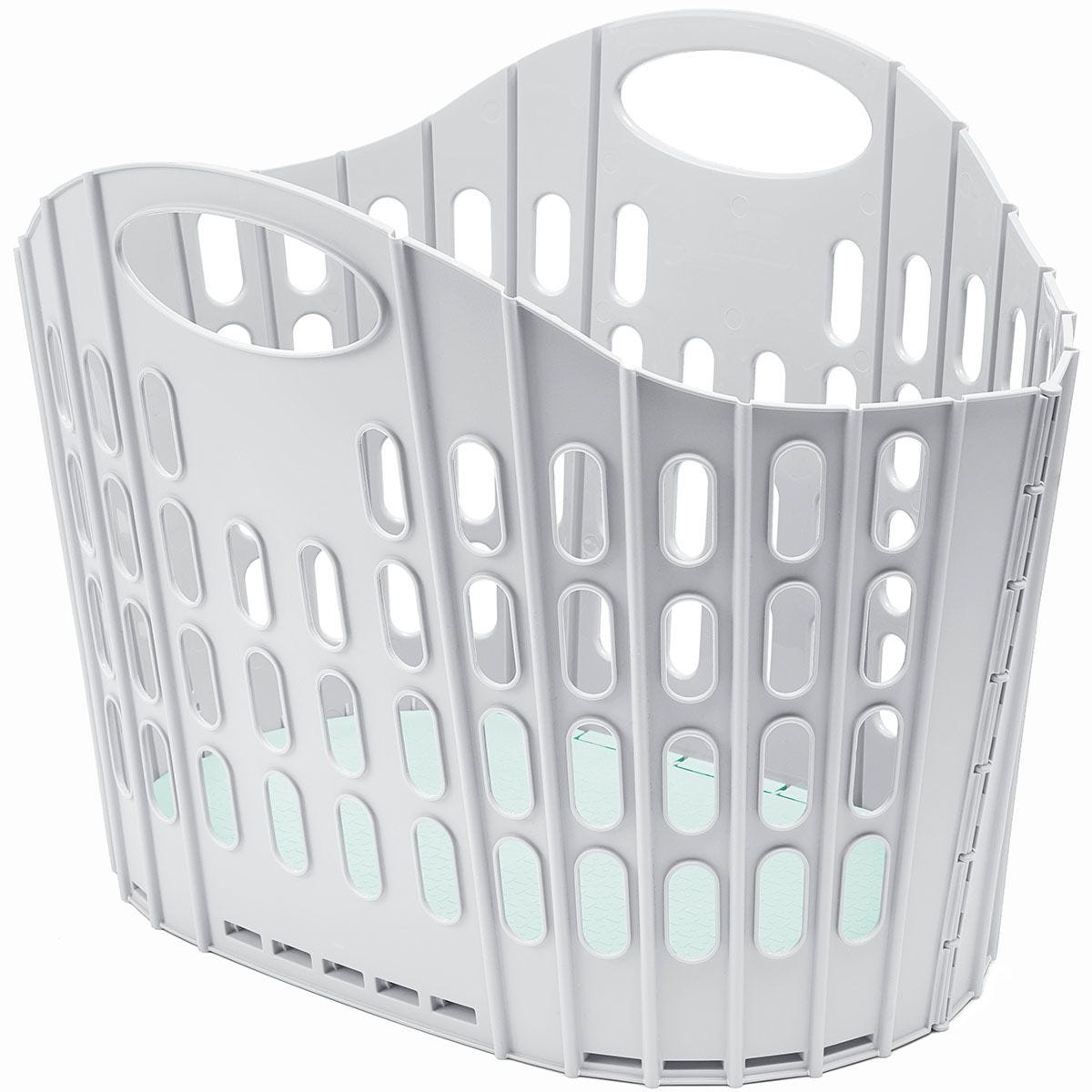 Addis 38L Fold Flat Laundry Basket - Grey