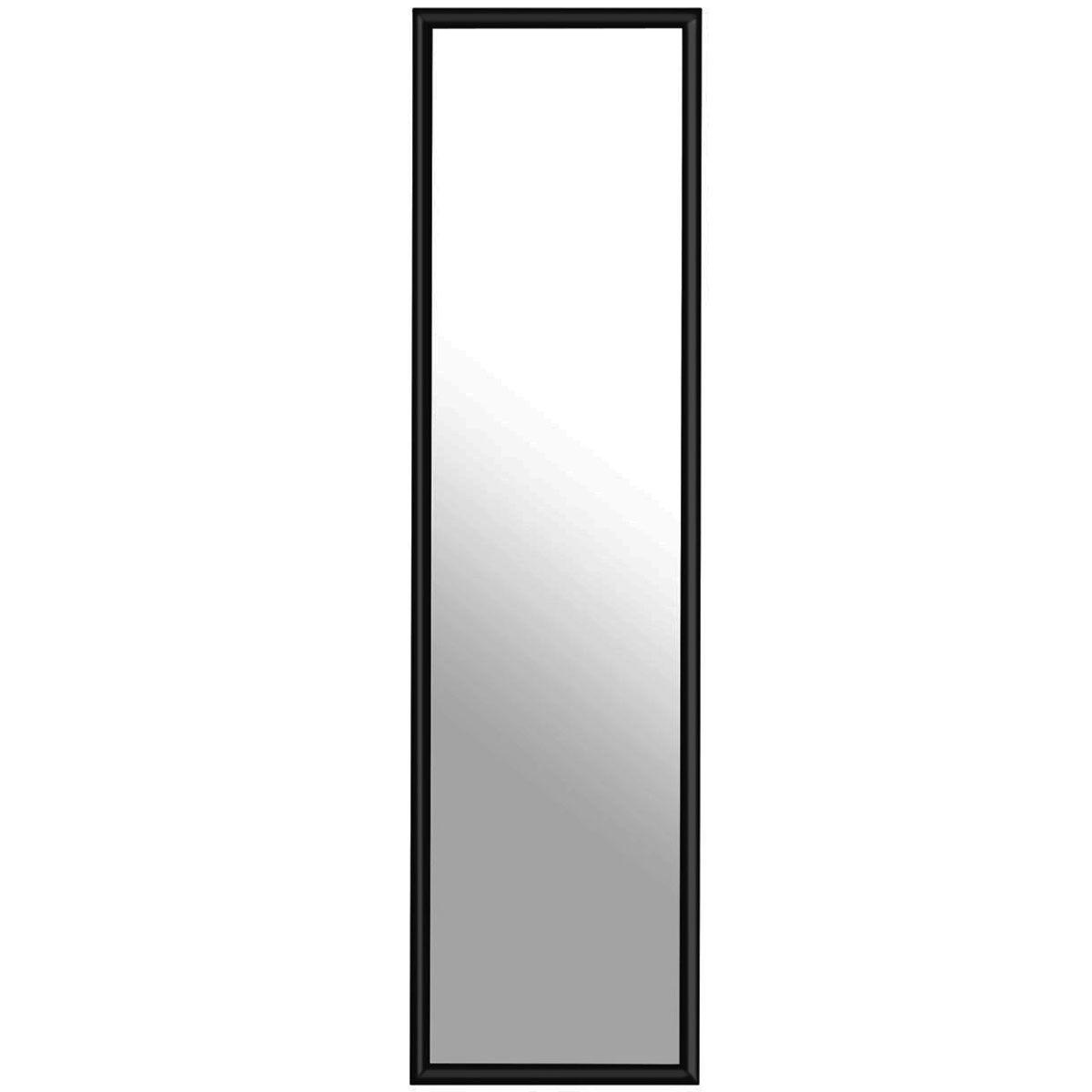 Premier Housewares Plastic Frame Over Door Mirror - Black