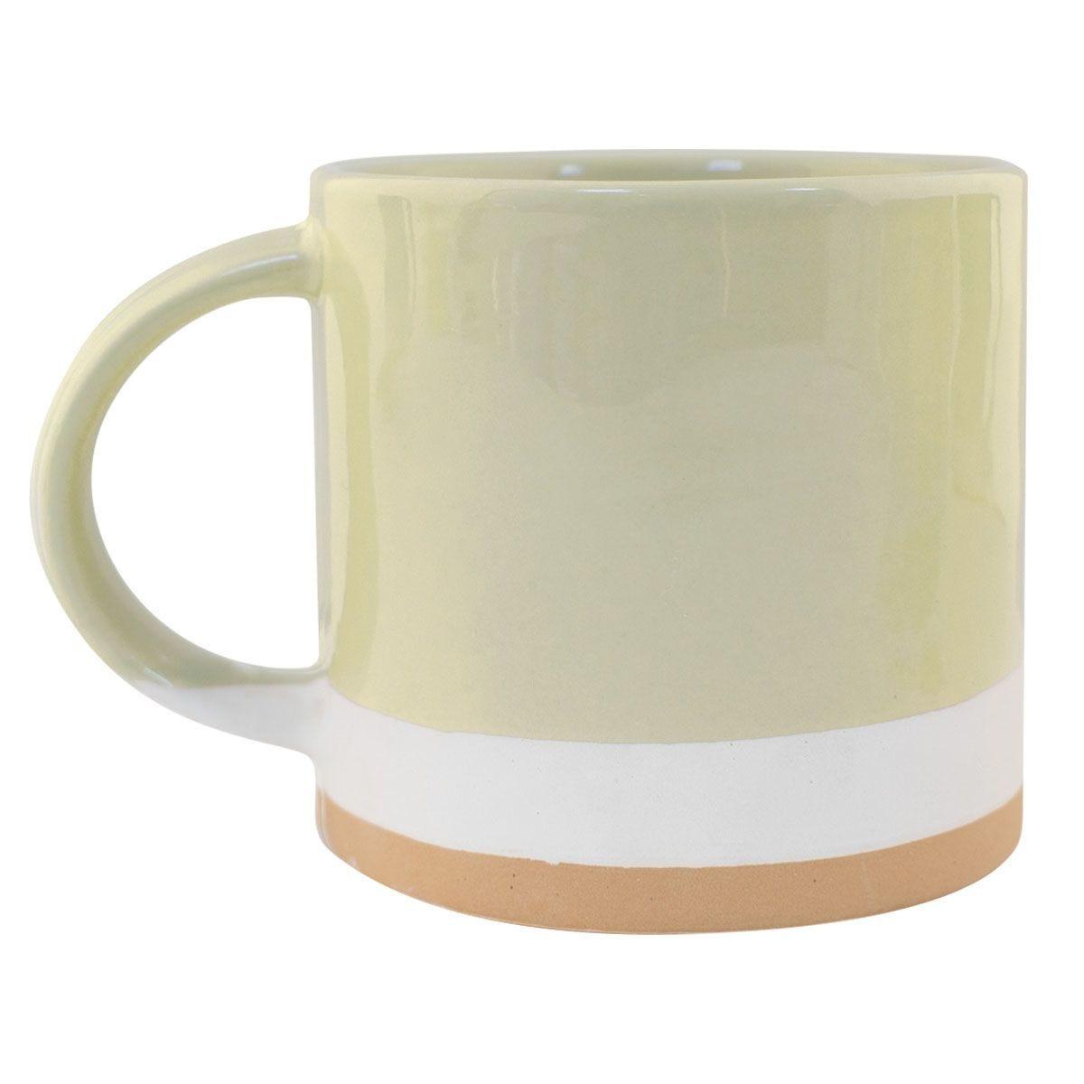 Cheesecake Hand Painted Mug - Green