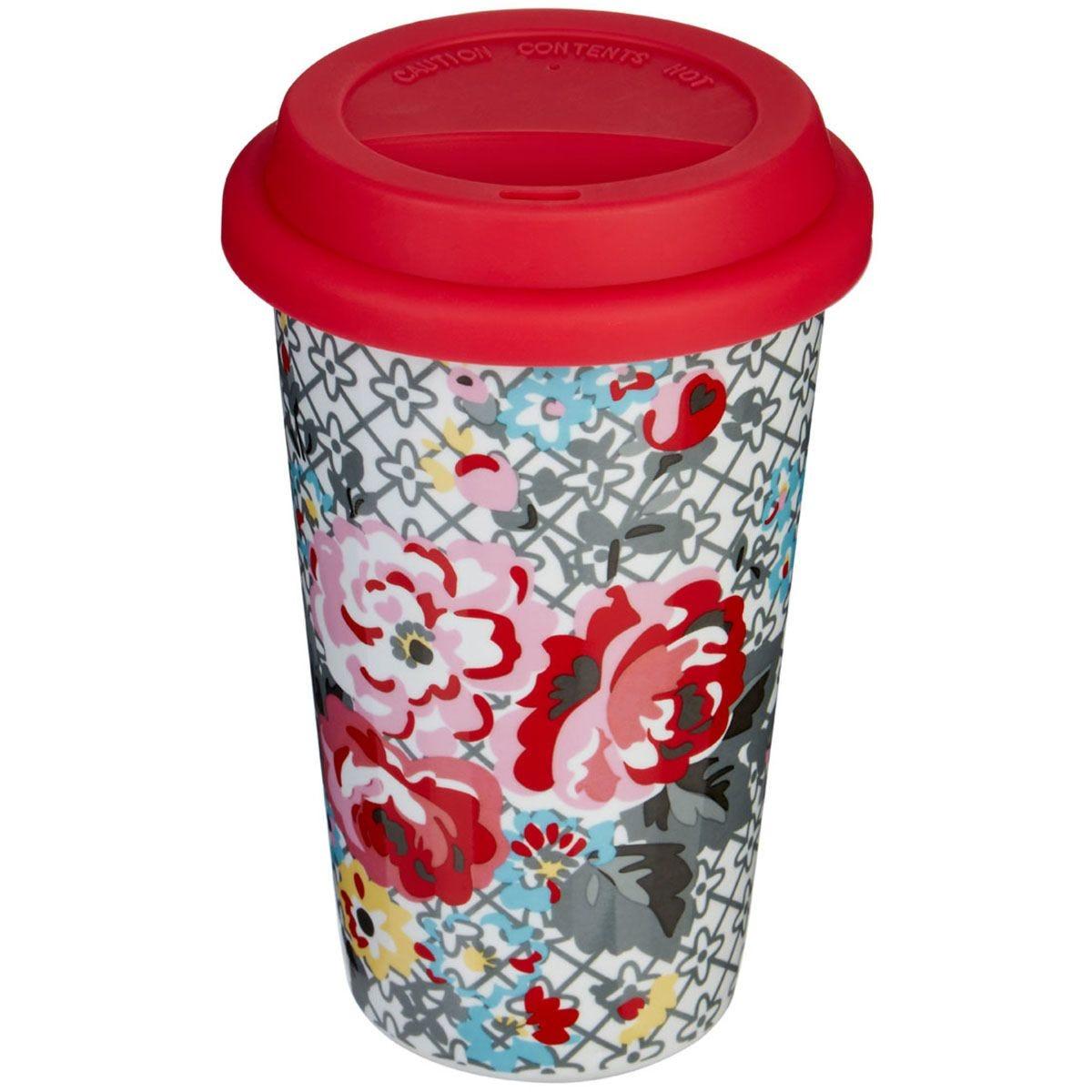 Premier Housewares Flowers Travel Mug