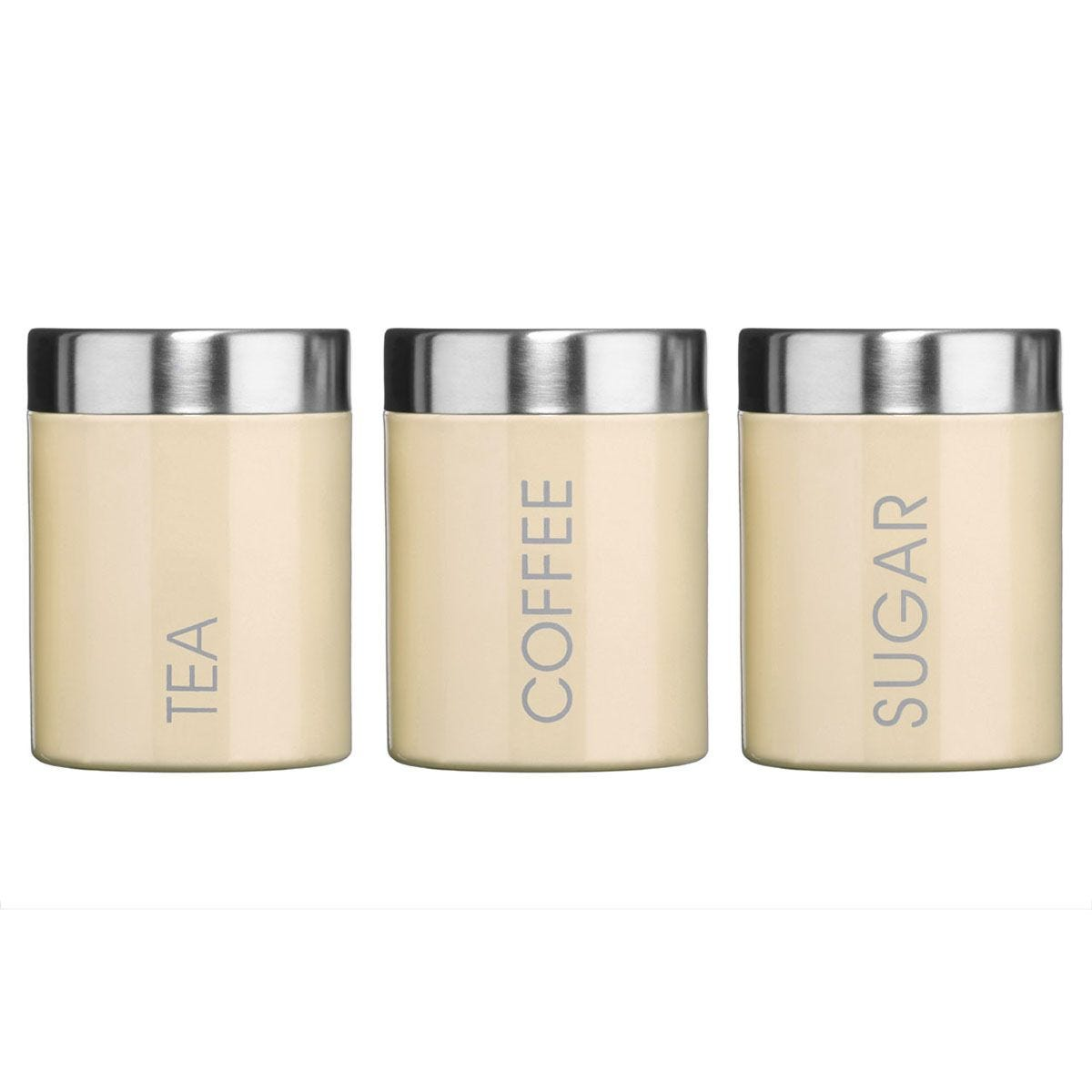 Premier Housewares Cream Liberty Canisters - Set of 3