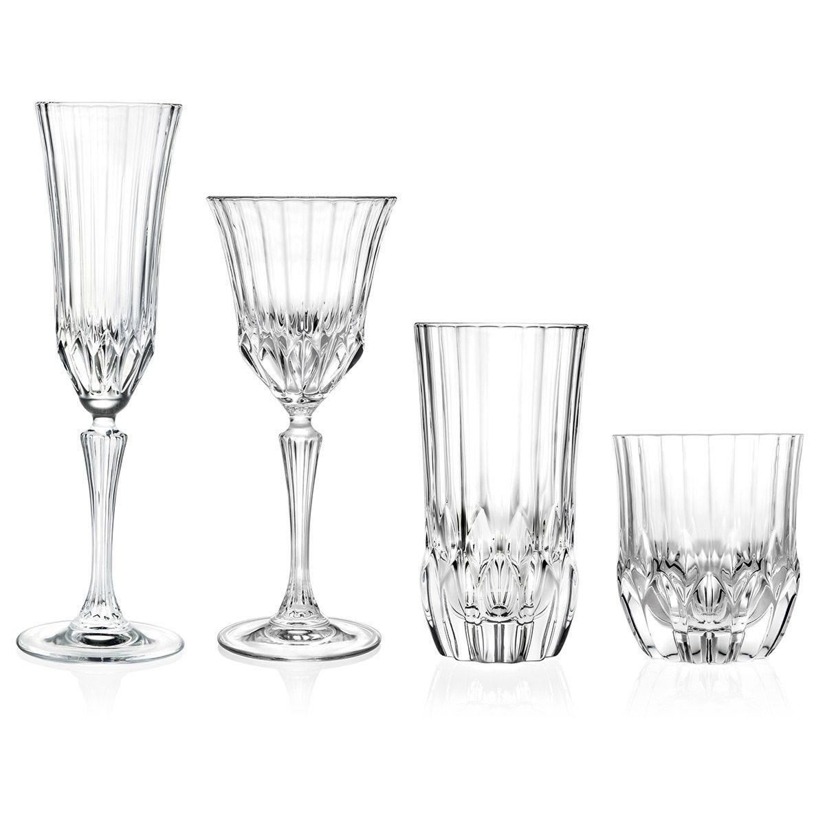 RCR Adagio Luxion Crystal 24-Piece Glassware Set