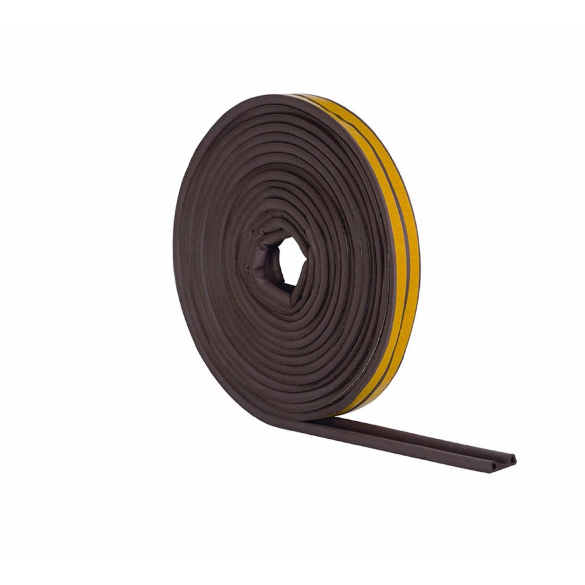 Stormguard 'P' Profile Rubber Draught Seal – 5m, Brown