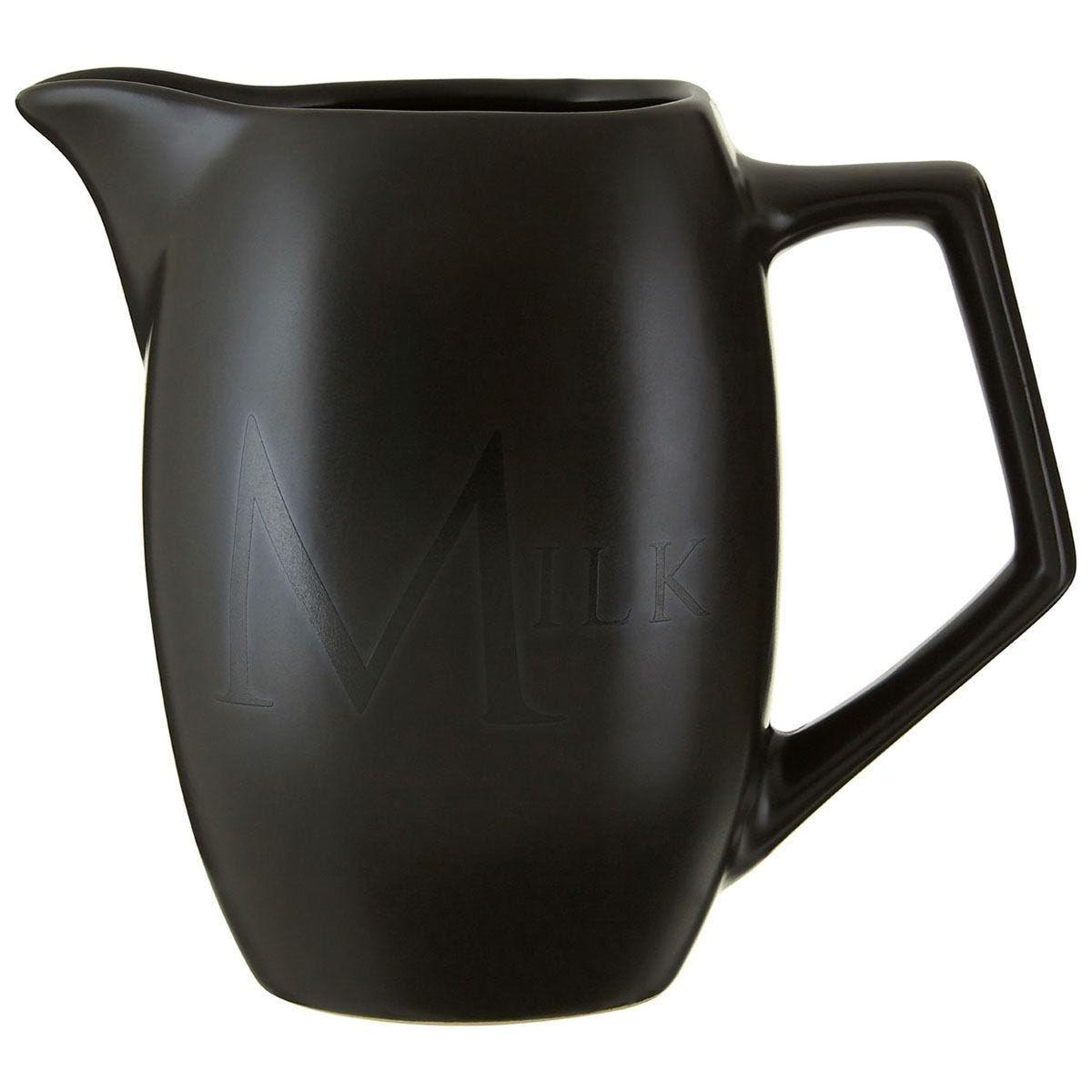 Premier Housewares Ceramic Milk Jug - Black