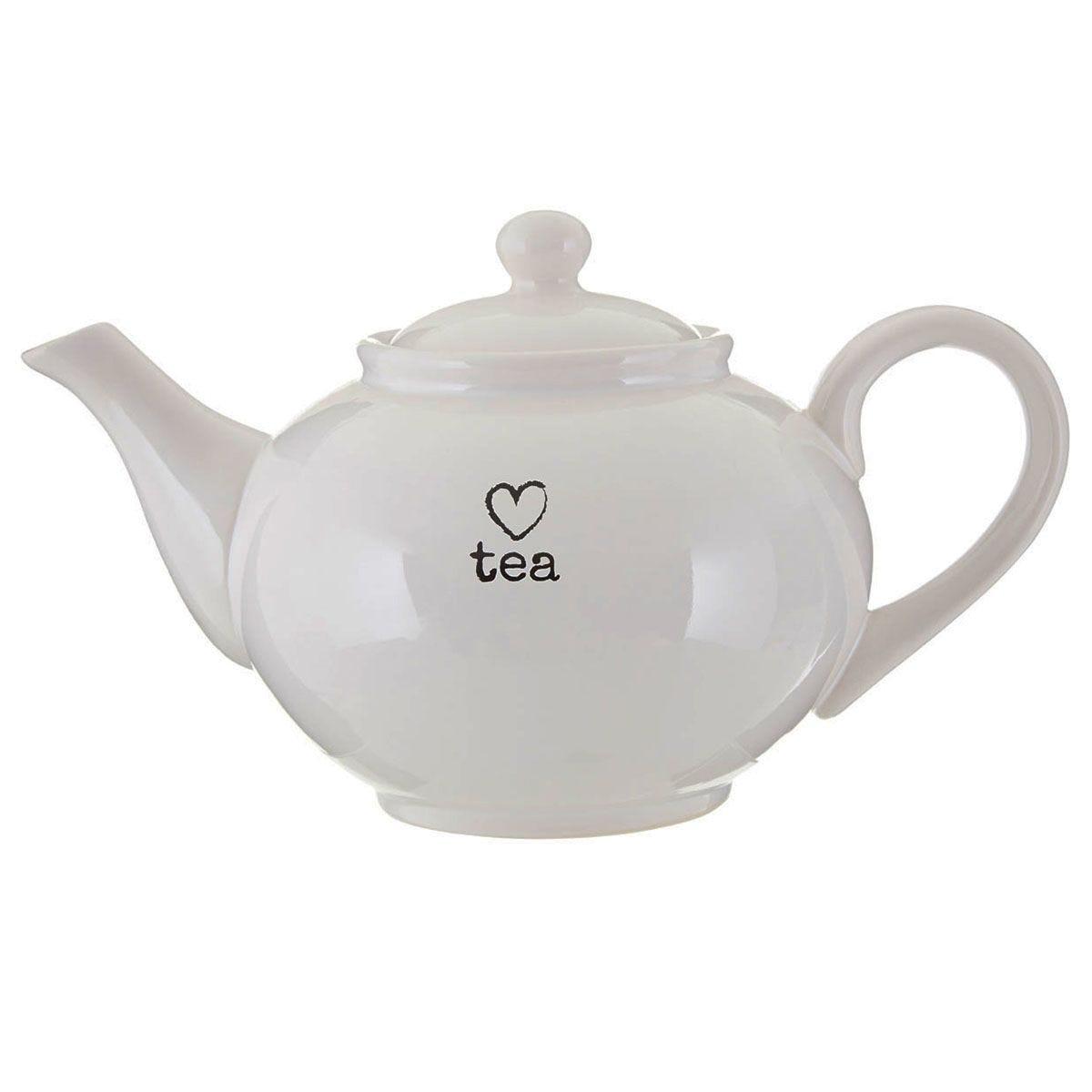 Premier Housewares Charm Teapot - White