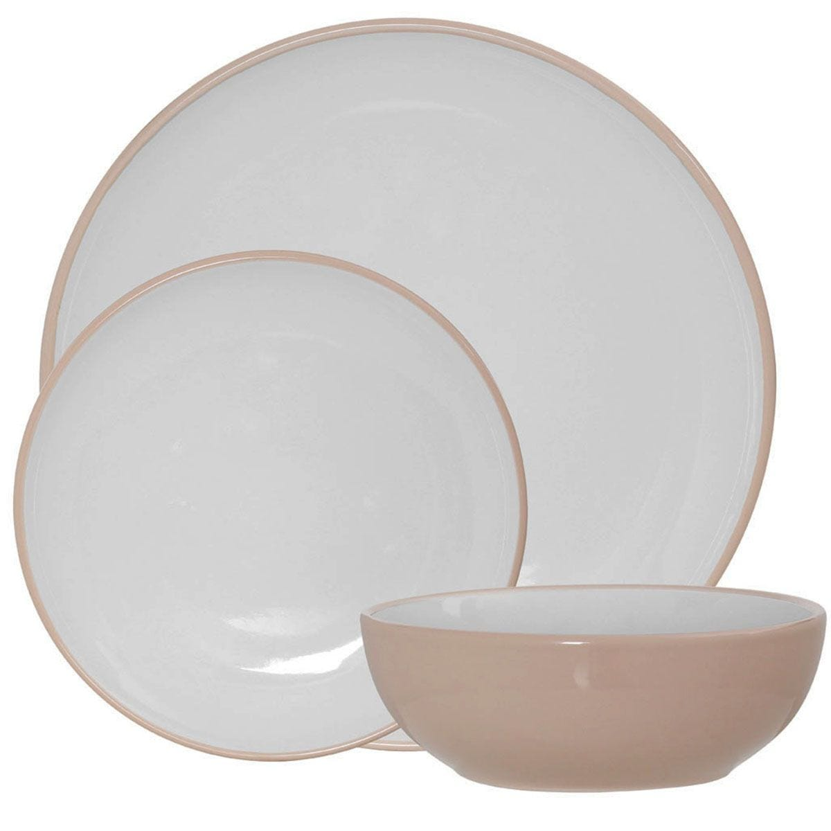 Premier Housewares 12-Piece Sienna Dinner Set - Pink