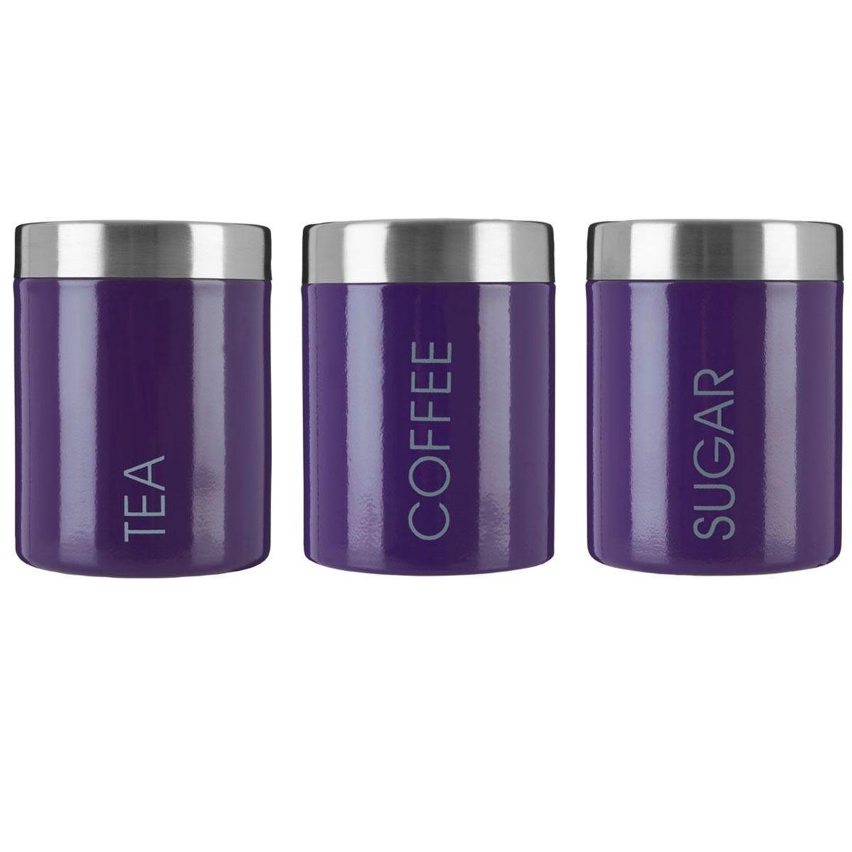 Premier Housewares Purple Liberty Canisters - Set of 3