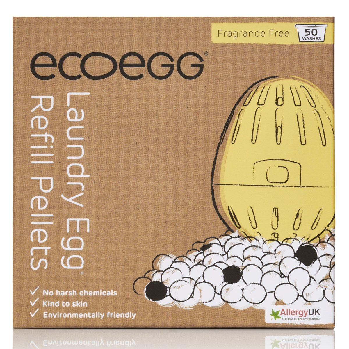 Ecoegg Fragrance Free Laundry Egg Refill Pellets - 50 Washes
