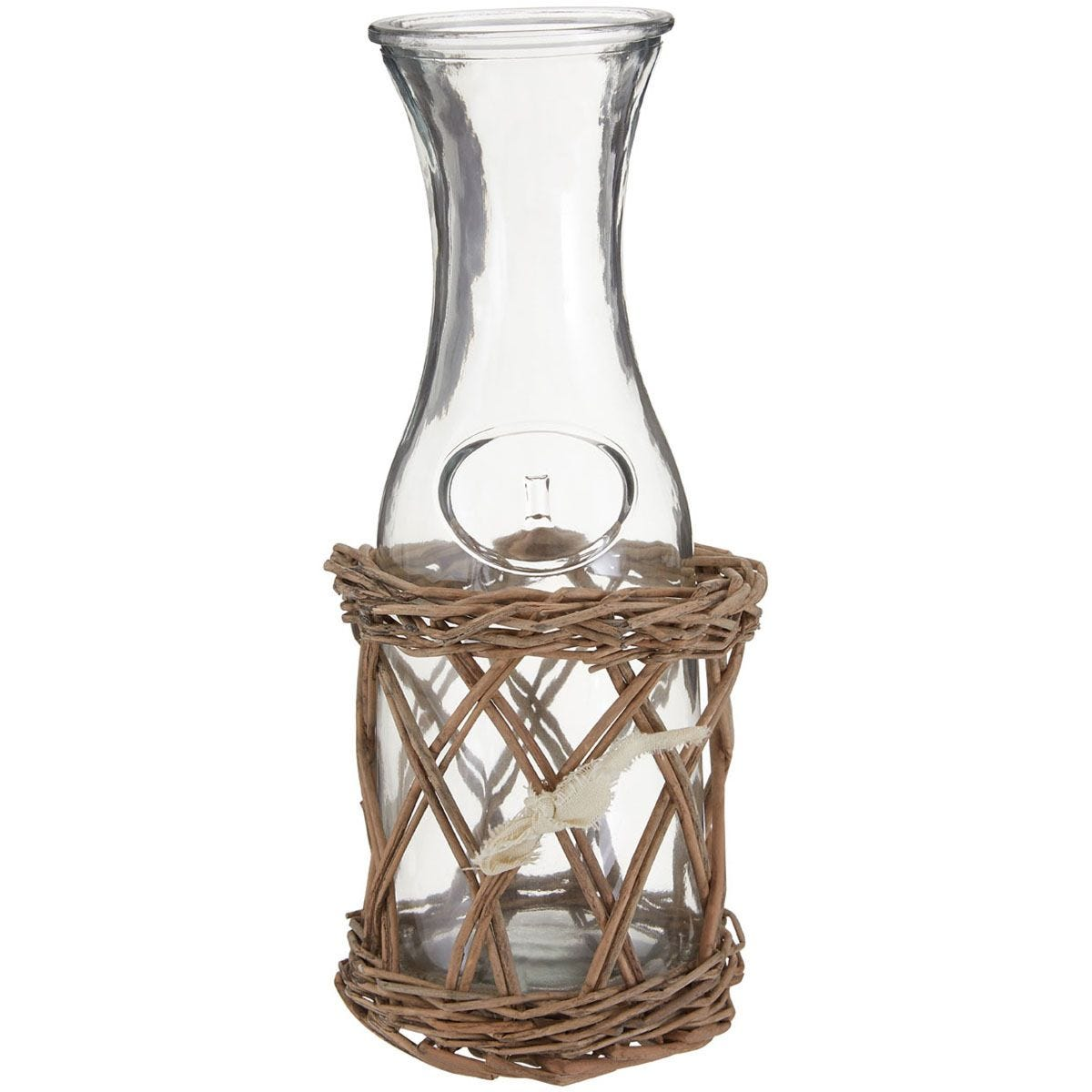 Premier Housewares Country Glass Bottle and Basket