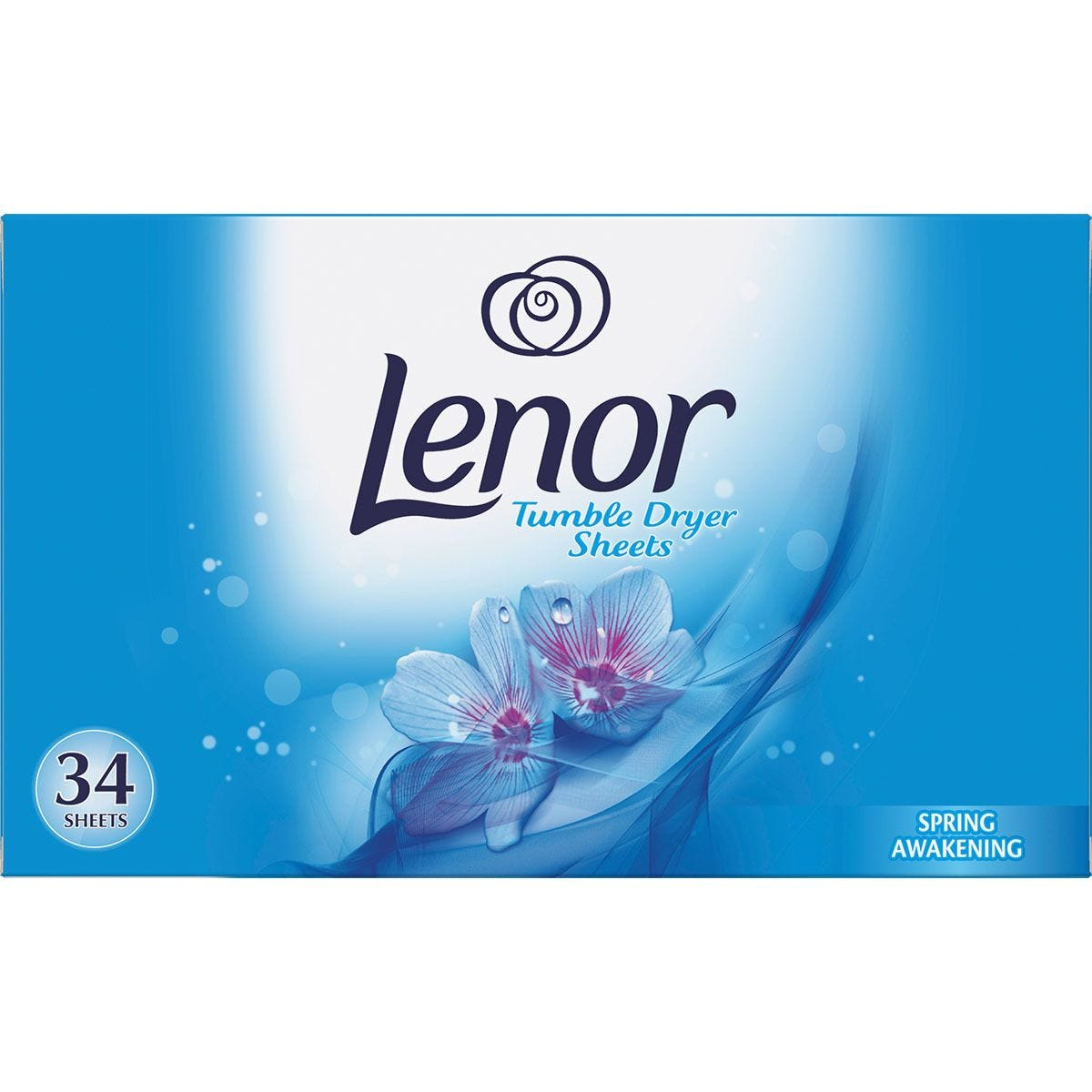 Lenor Spring Awakening Tumble Dryer Sheets - Pack of 34