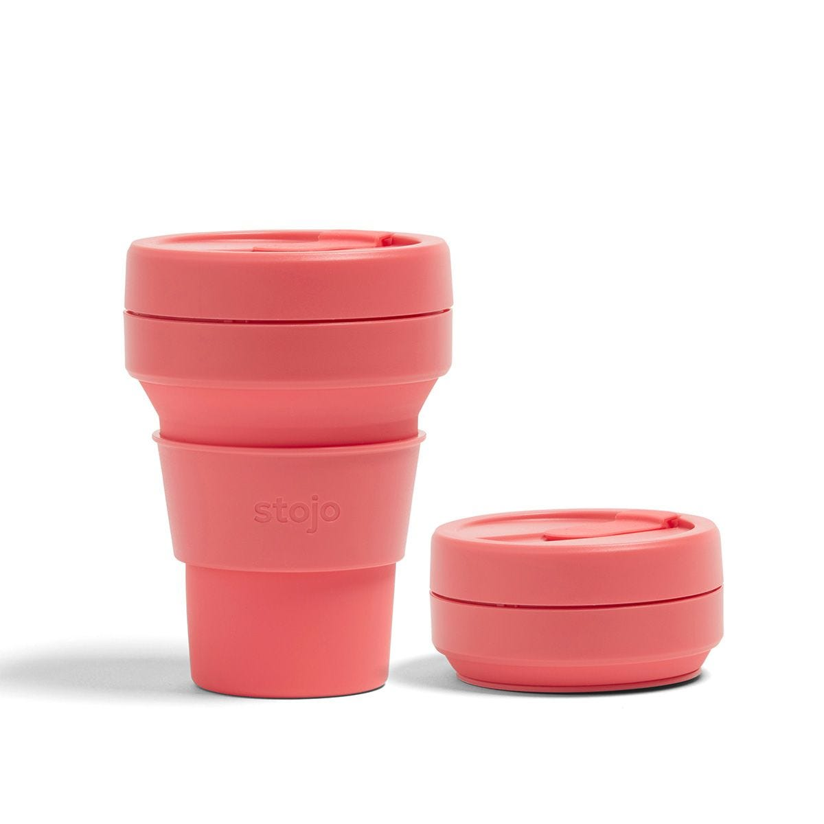 Stojo Collapsible Pocket Cup 12oz - Coral