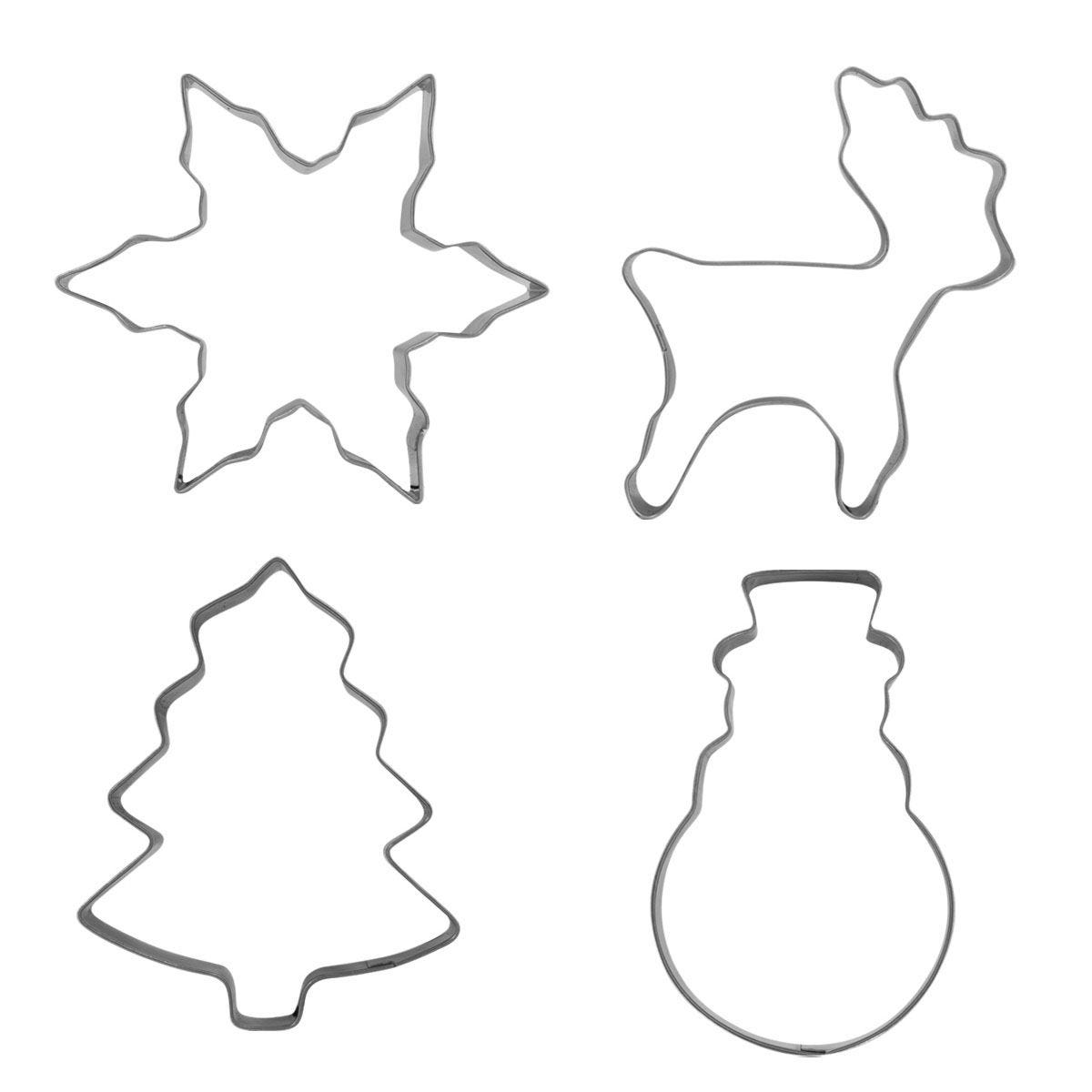 Stainless Steel Cookie Cutters - Set of 4