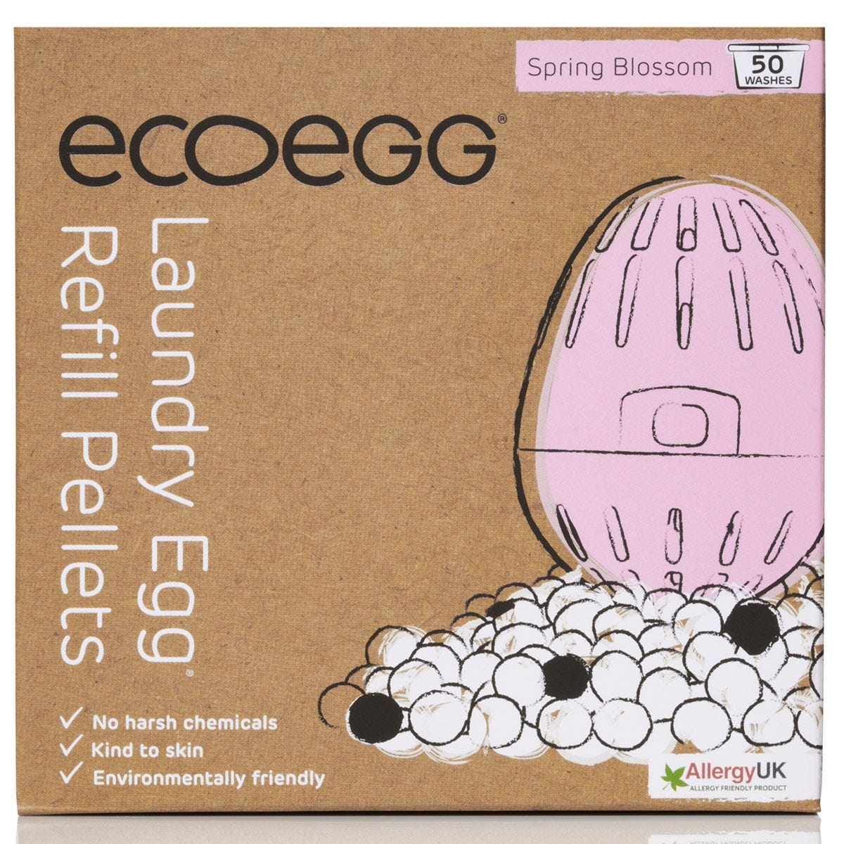 Ecoegg Spring Blossom Laundry Egg Refill Pellets - 50 Washes