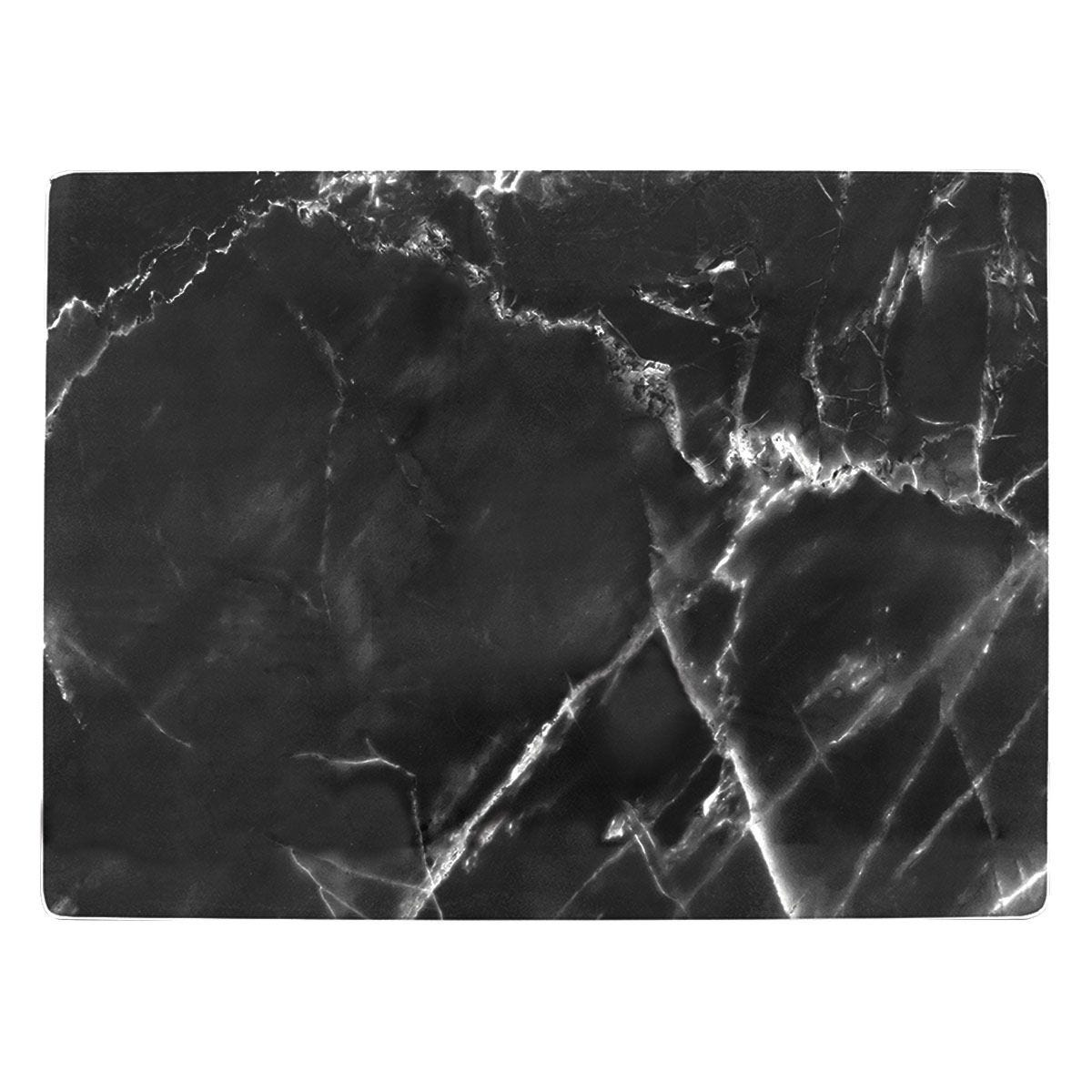 Black Marble Effect Glass Worktop Saver