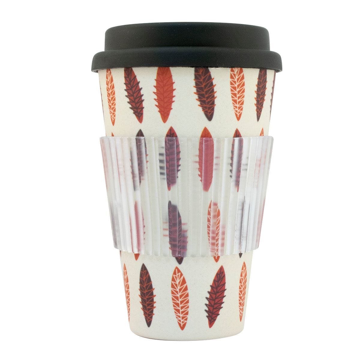 Bamboo Travel Mug - Brown Leaves