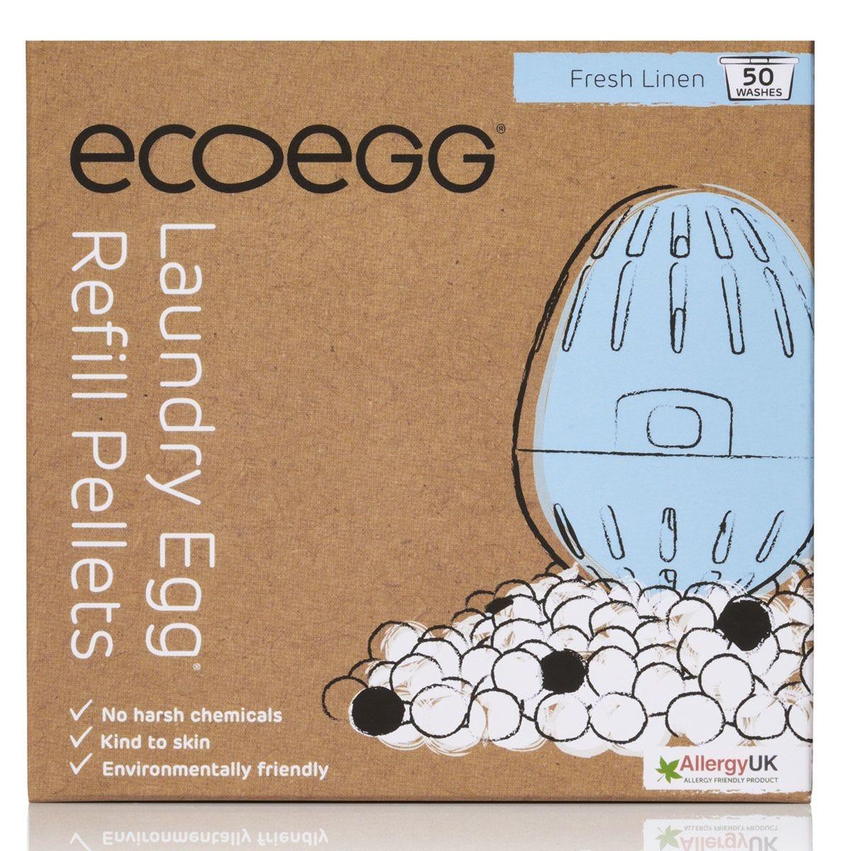 Ecoegg Fresh Linen Laundry Egg Refill Pellets - 50 Washes