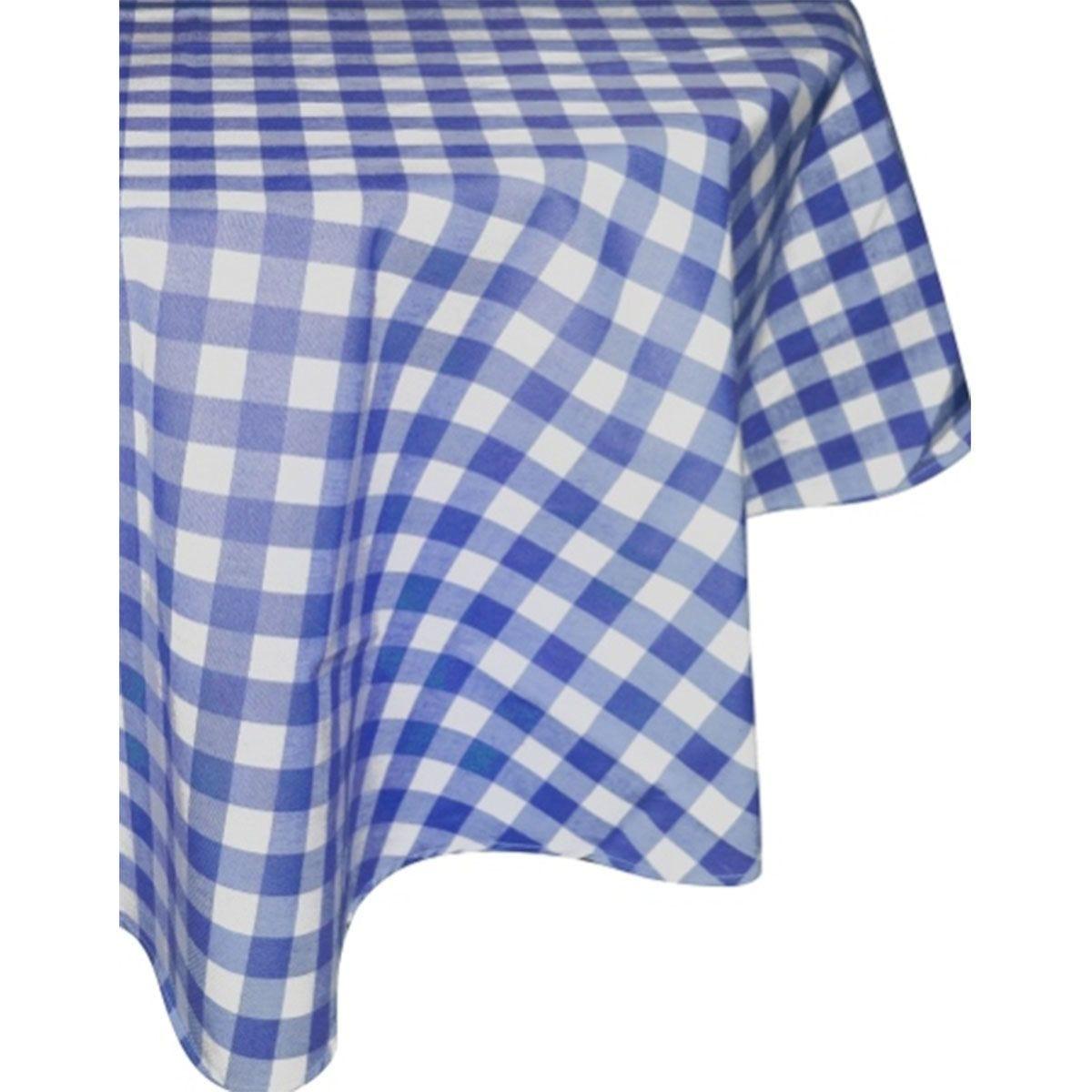 Le Chateau Gingham Tablecloth - Blue