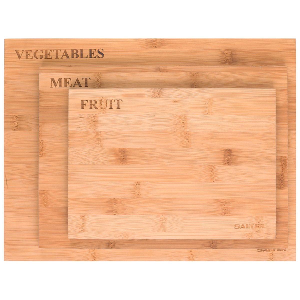Salter 3-Piece Bamboo Chopping Board Set
