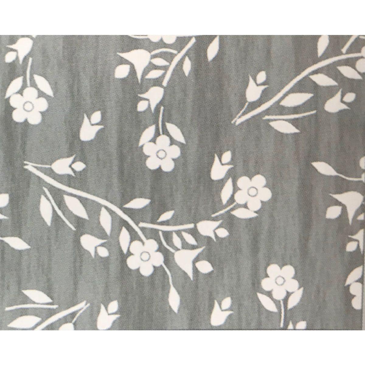 Le Chateau Floral Spring PVC Tablecloth - Grey