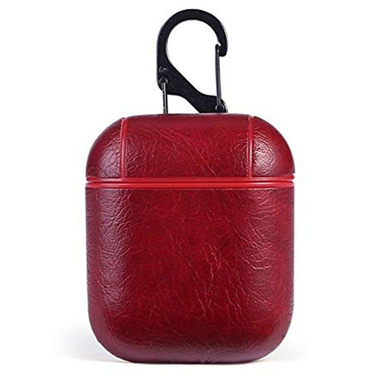 Aquarius Luxury Leather Case for EarPod - Red