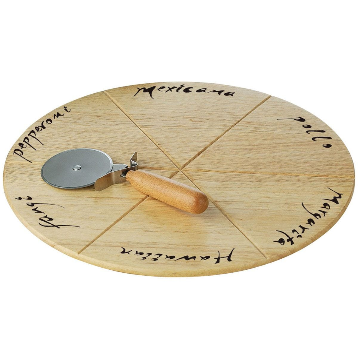 Premier Housewares Pizza Board Set with Pizza Cutter