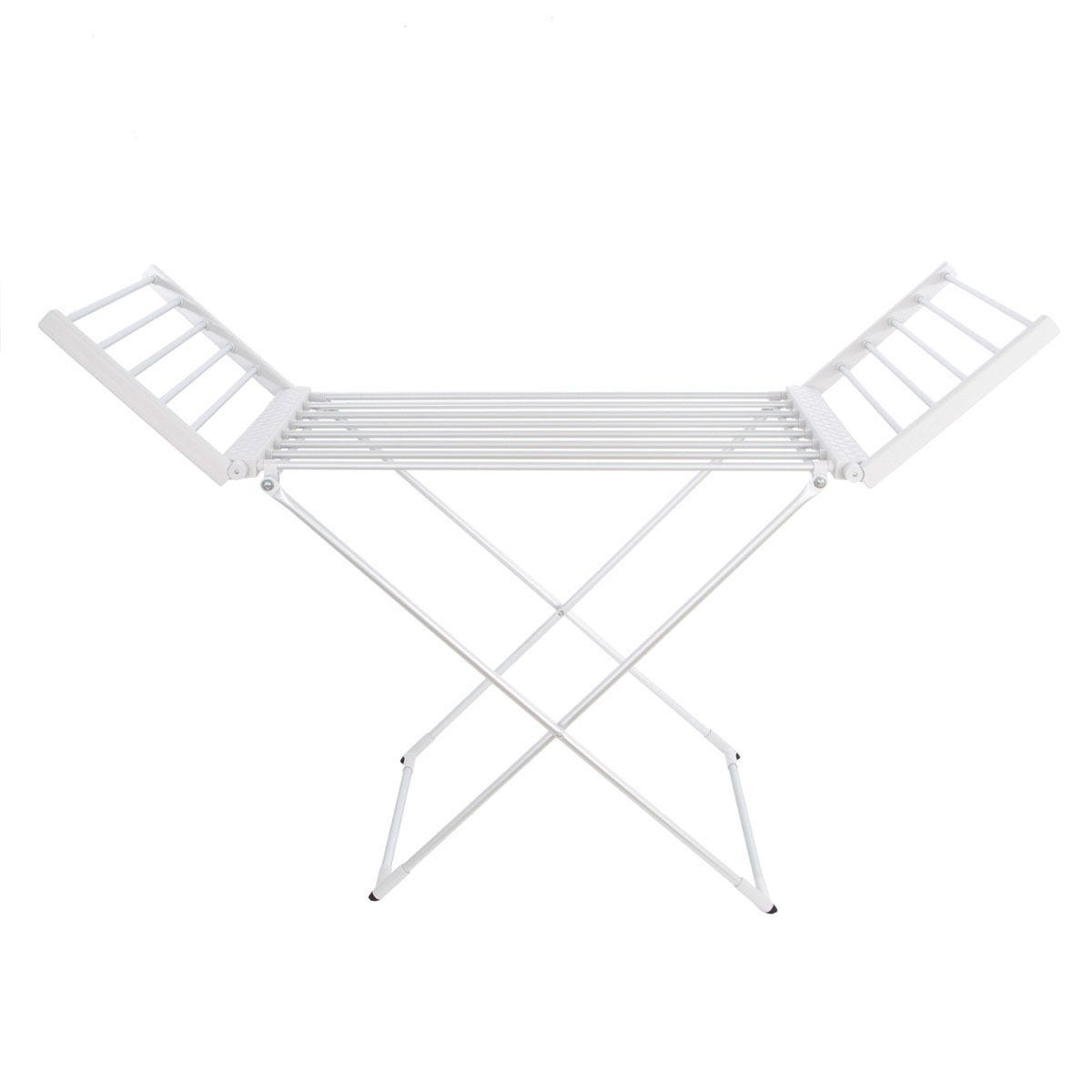 Status 220W Portable Heated Clothes Airer with Wings - Silver