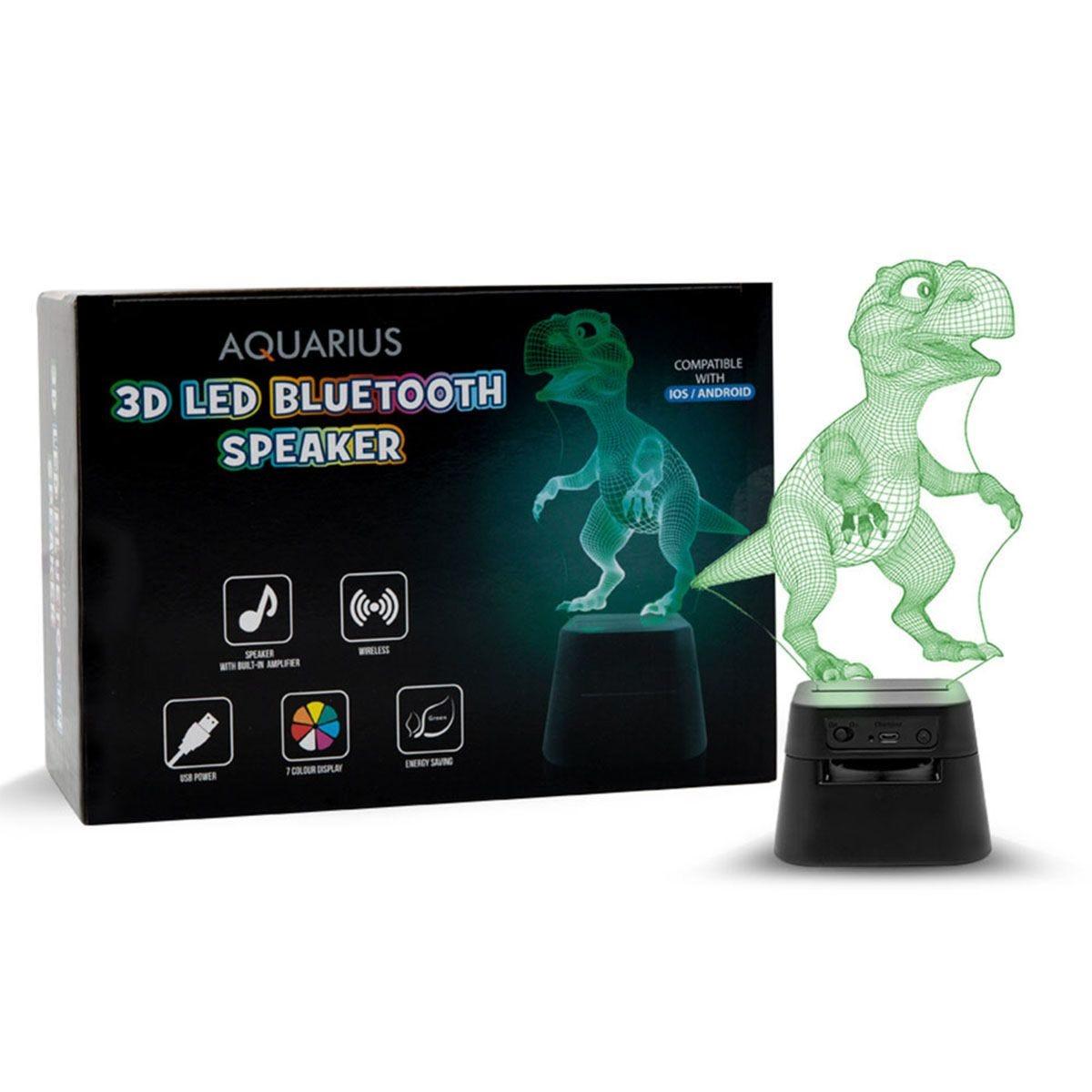 Aquarius 3D Led Bluetooth speaker - Dinosaur Hologram Led Lamp
