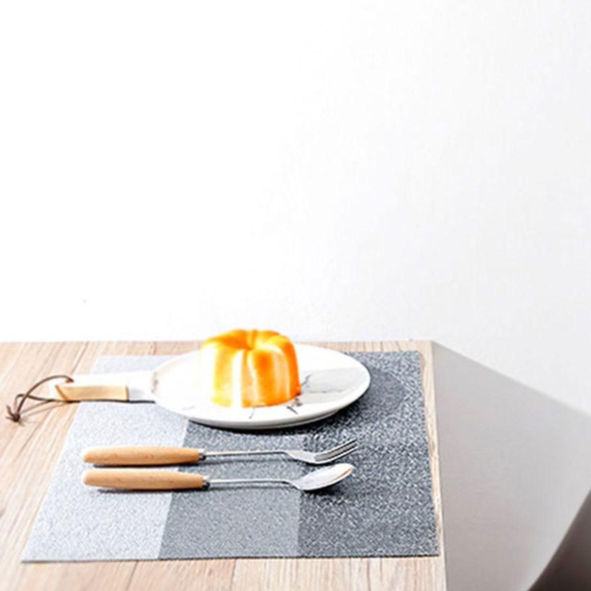 Haven Anti Slip Dining Table Mat - Horizontal Bar Grey