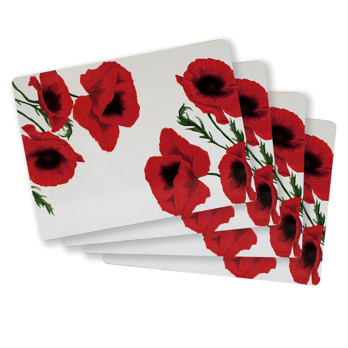 Poppy Placemats - Set Of 4