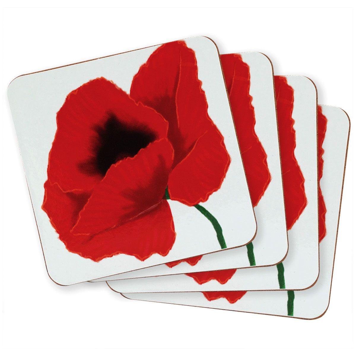 Poppy Coasters - Set Of 4