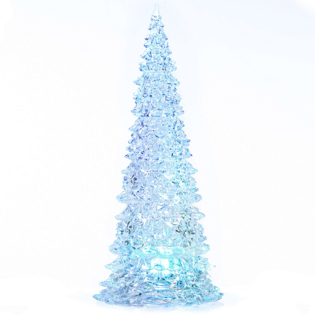 Robert Dyas Battery Operated Acrylic Christmas Tree - 32cm