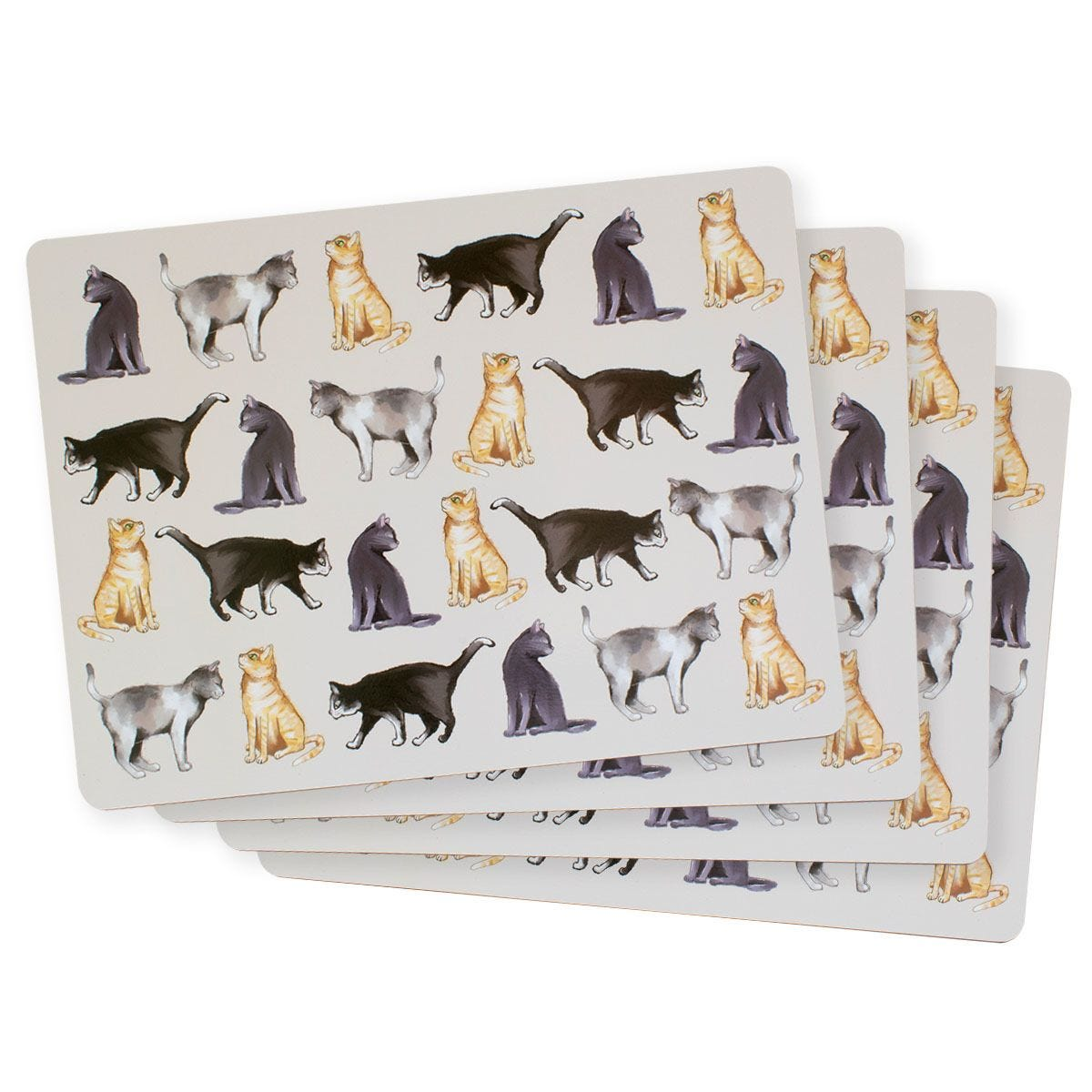 Cat Placemats - Set Of 4