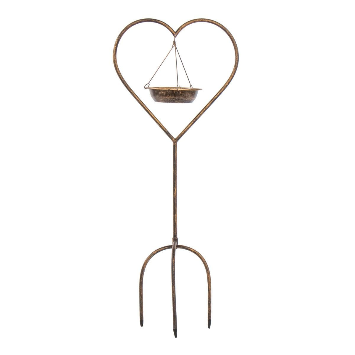 Mansion Garden Heart Bird Feeder